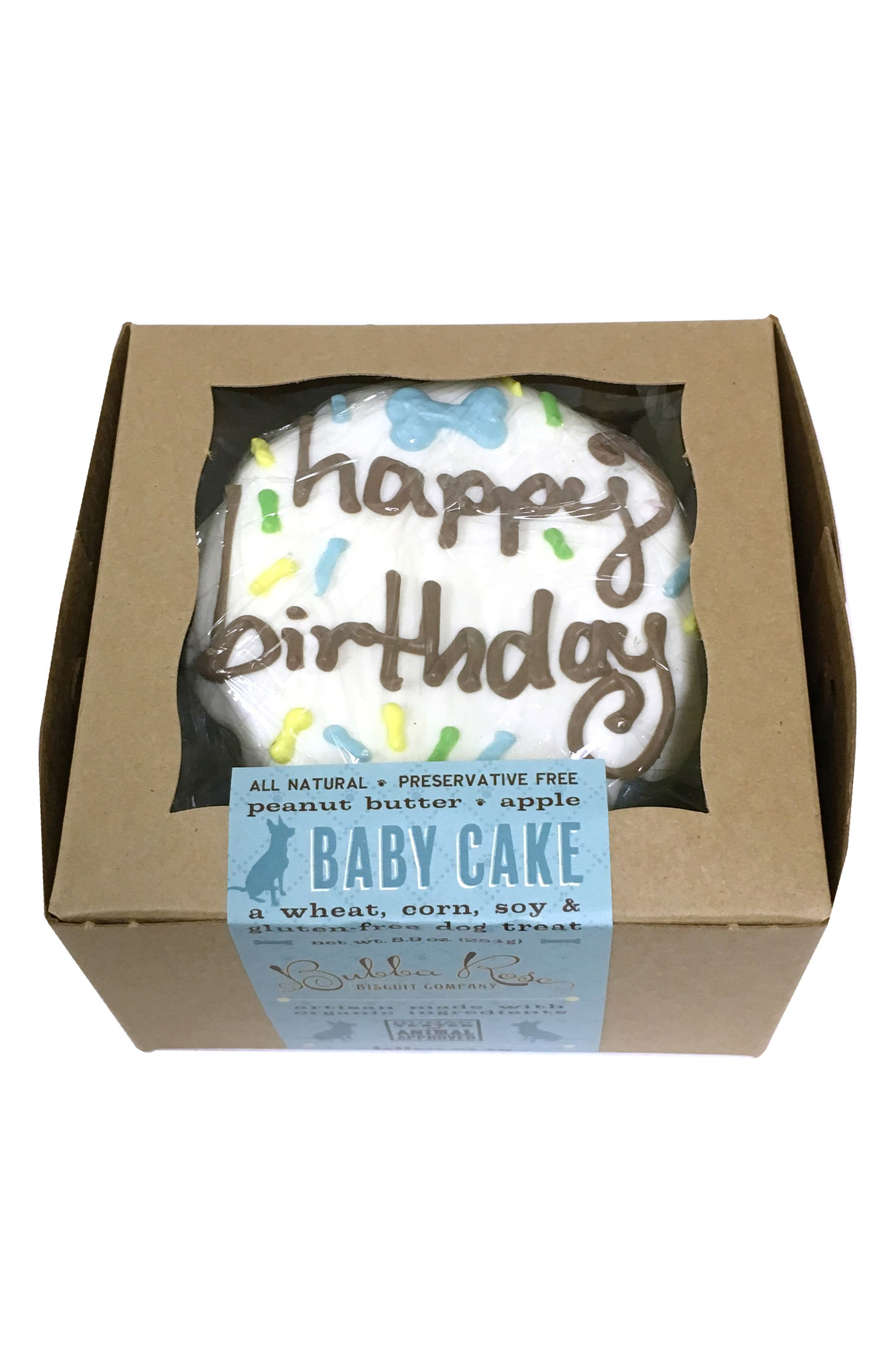 Bubba Rose Biscuit Company Blue Birthday Baby Cake Dog Treat,                             Alternate thumbnail 2, color,                             Blue