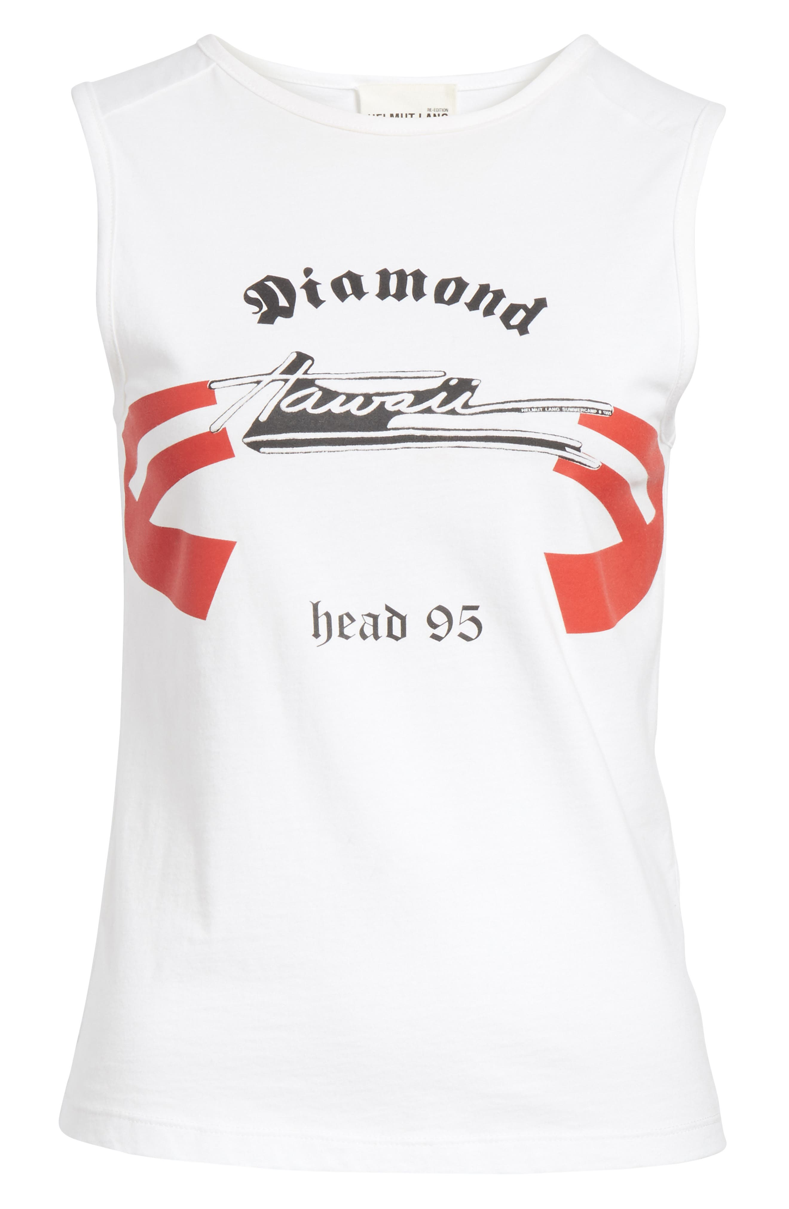 Diamond Head Graphic Muscle Tank,                             Alternate thumbnail 6, color,                             White
