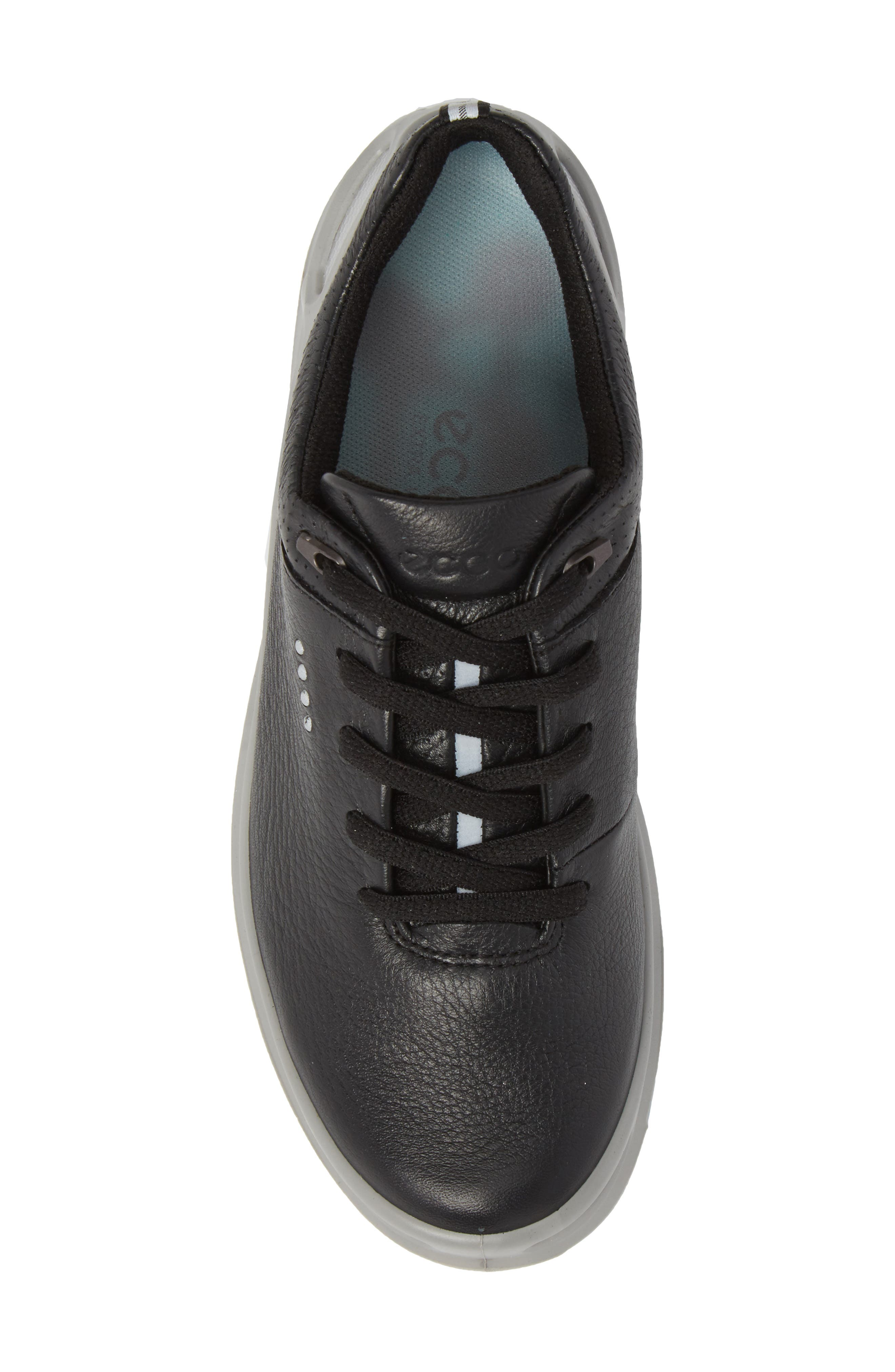 Golf Cage Pro Gore-Tex<sup>®</sup> Waterproof Shoe,                             Alternate thumbnail 5, color,                             Black Leather
