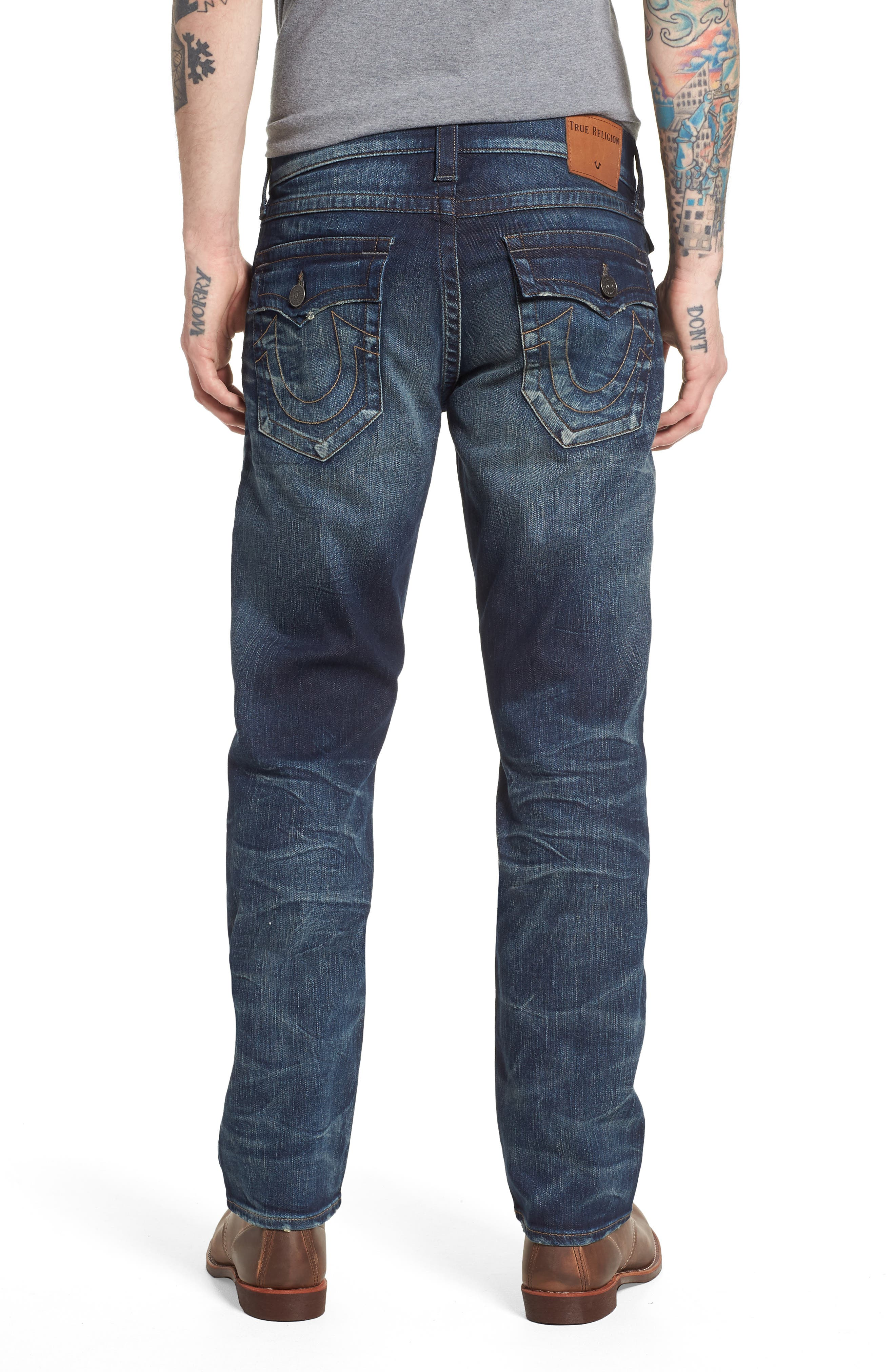 Ricky Relaxed Fit Jeans,                             Alternate thumbnail 2, color,                             Combat Blues