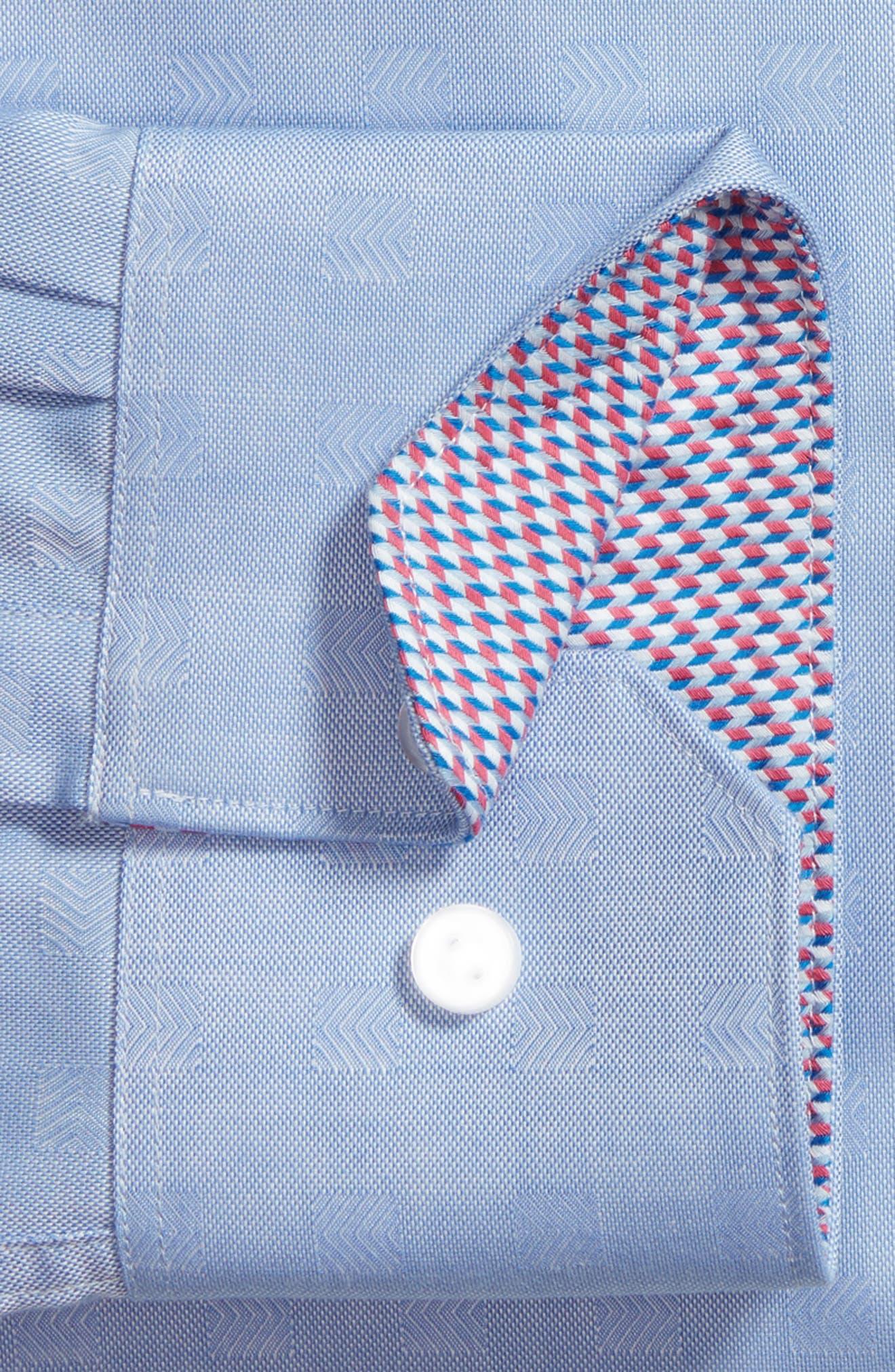 Ashur Trim Fit Solid Dress Shirt,                             Alternate thumbnail 5, color,                             Blue