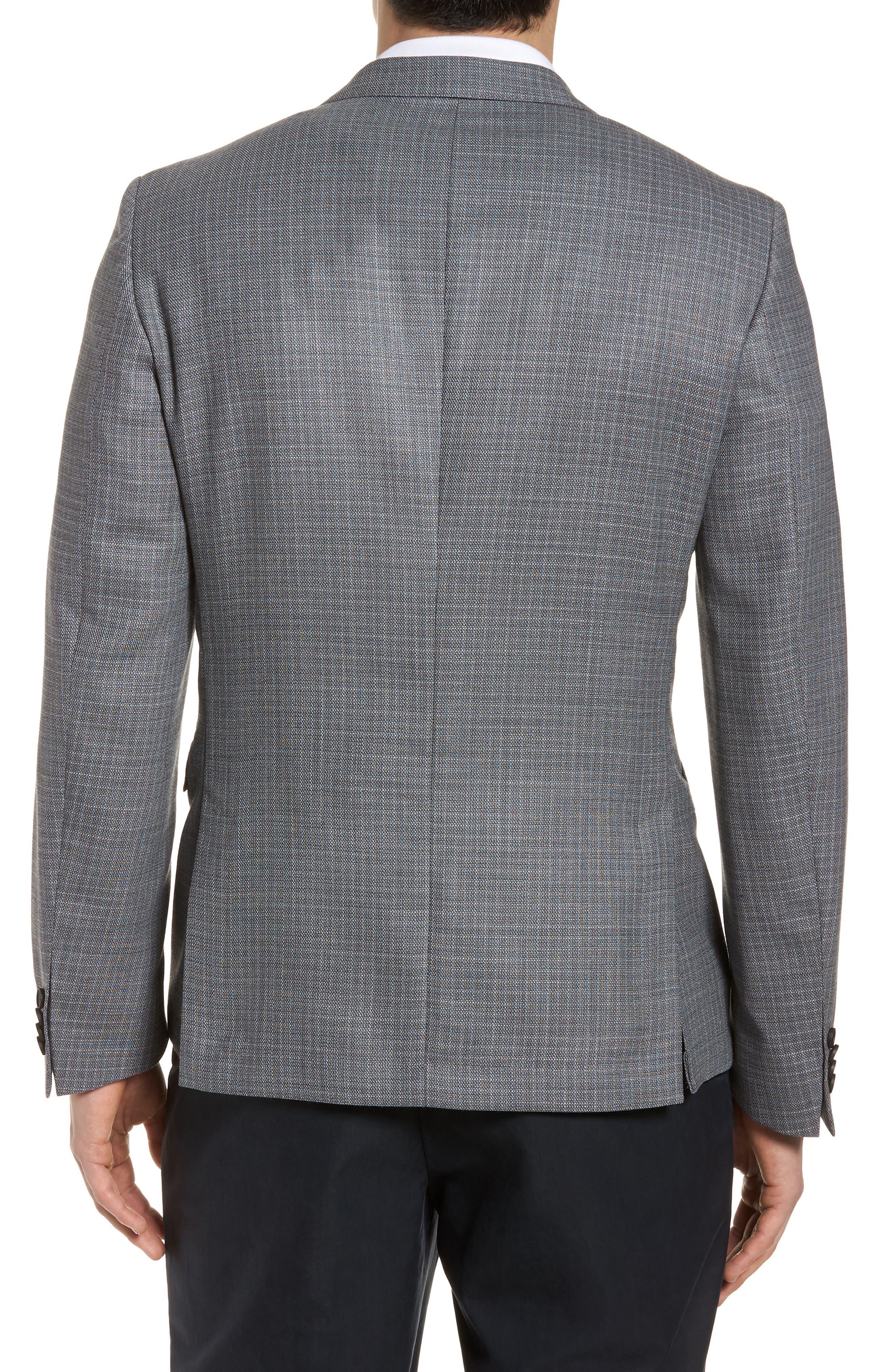 Nobis Trim Fit Wool Sport Coat,                             Alternate thumbnail 2, color,                             Medium Grey