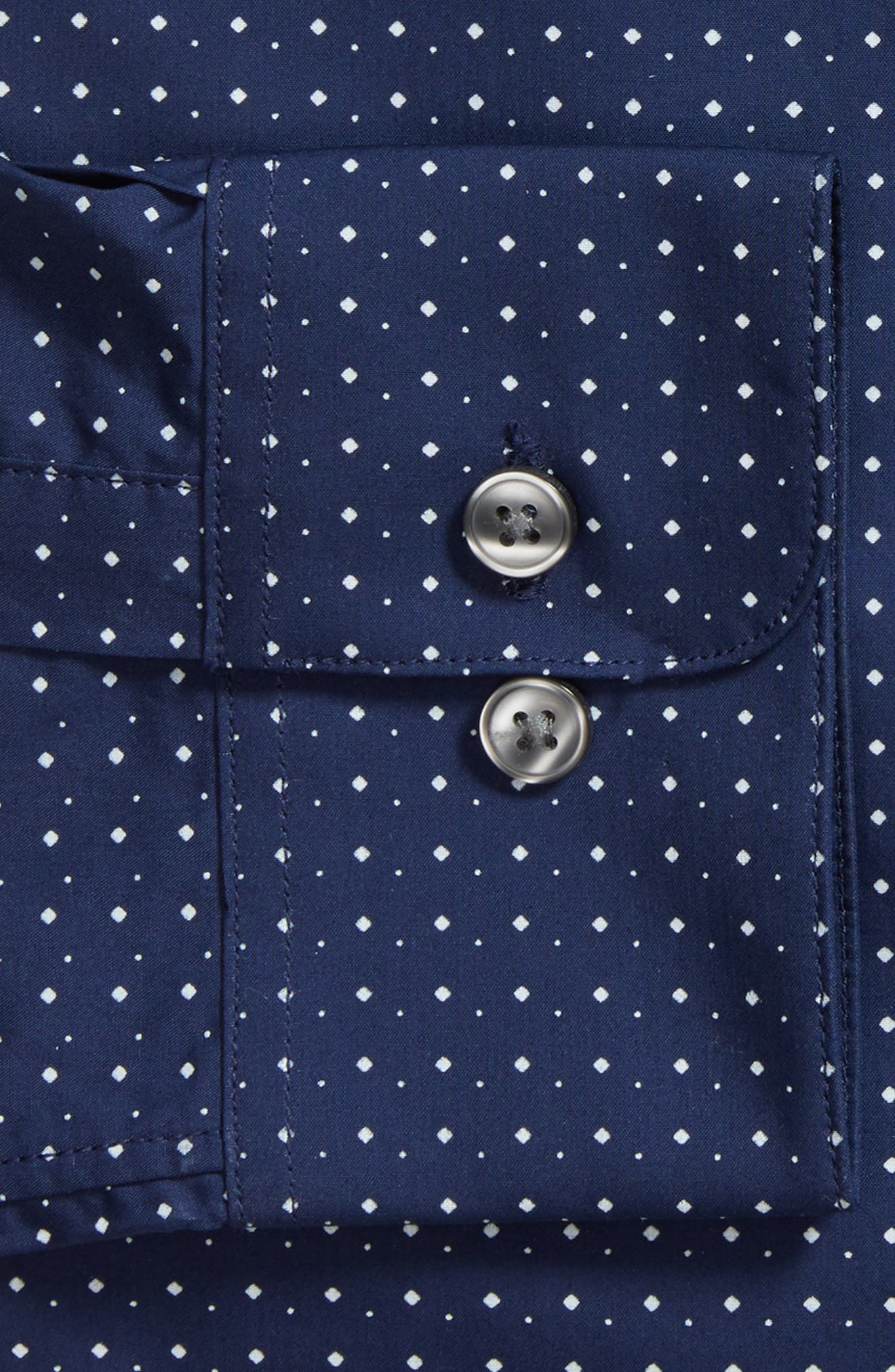 Slim Fit Diamond Dress Shirt,                             Alternate thumbnail 5, color,                             Sapphire