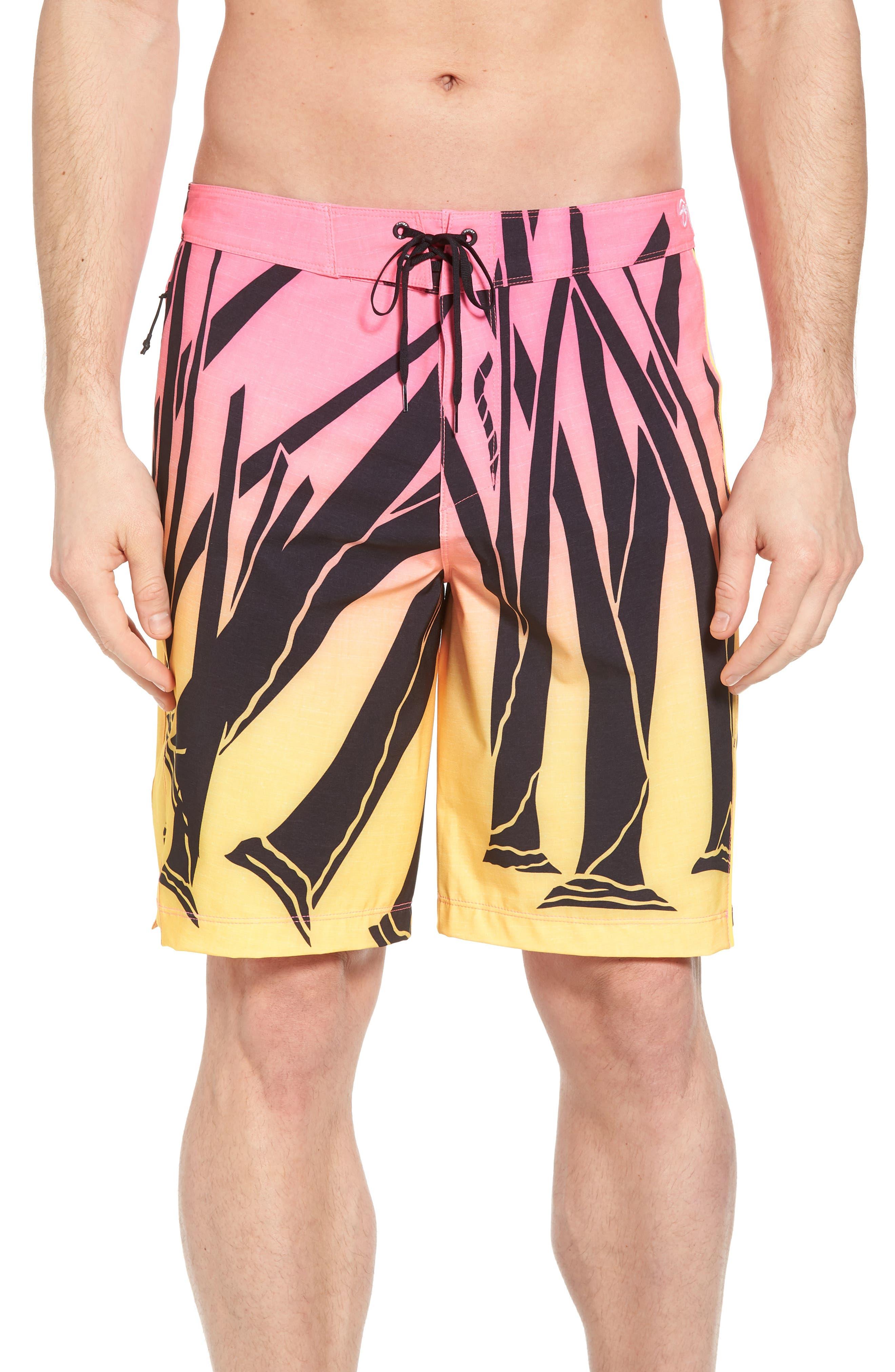 JJF IV Kahuliwae Board Shorts,                         Main,                         color, Hyper Pink