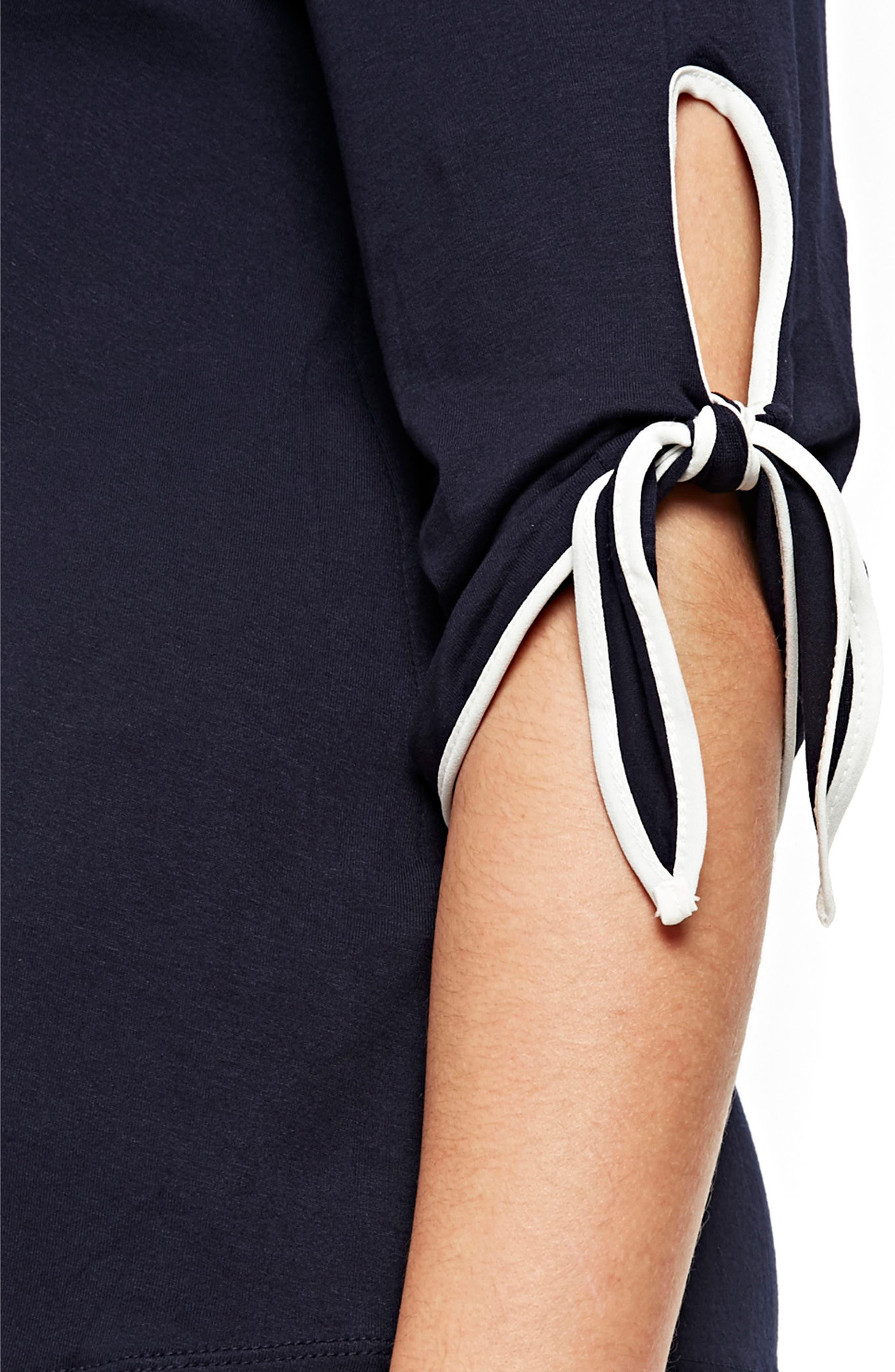 Alternate Image 3  - Evans Tie Sleeve Top (Plus Size)