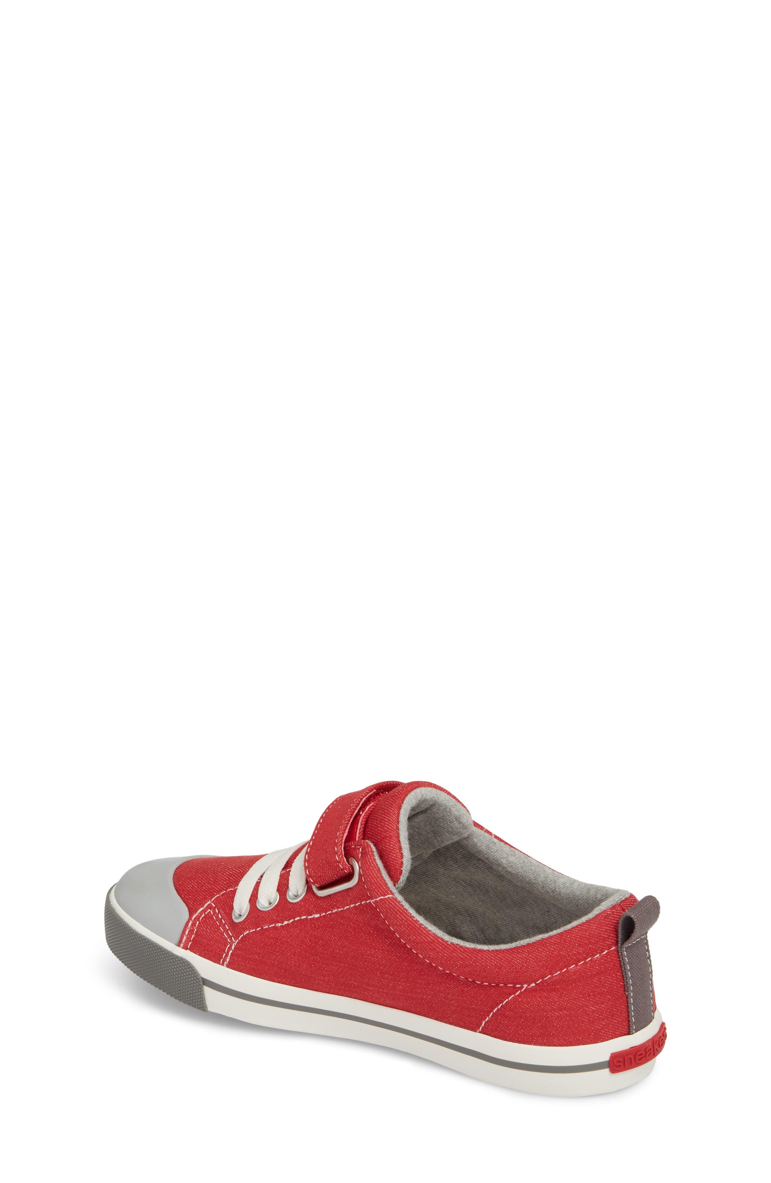 Stevie II Sneaker,                             Alternate thumbnail 2, color,                             Red/ Gray