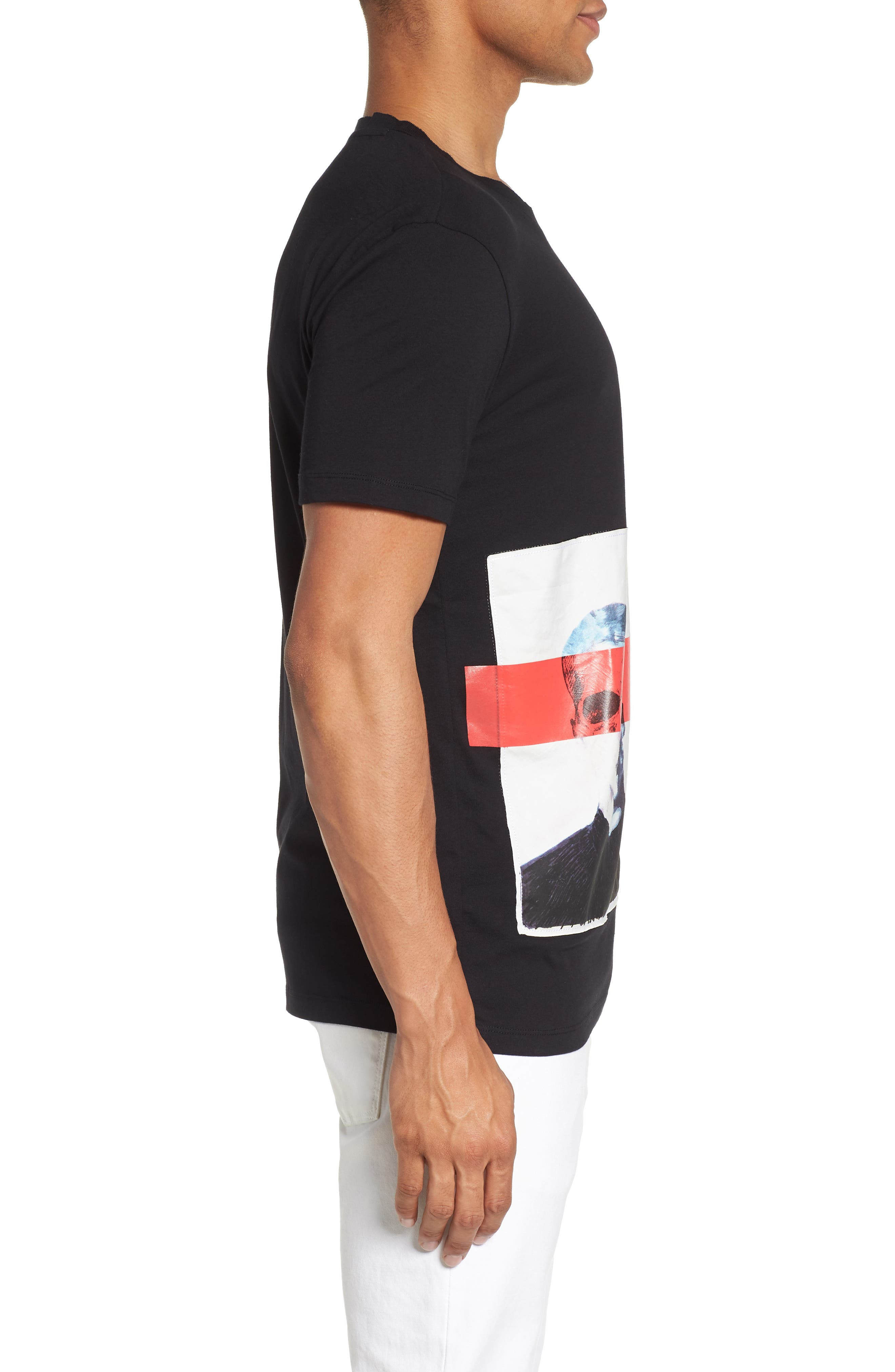 Dimage T-Shirt,                             Alternate thumbnail 3, color,                             Black