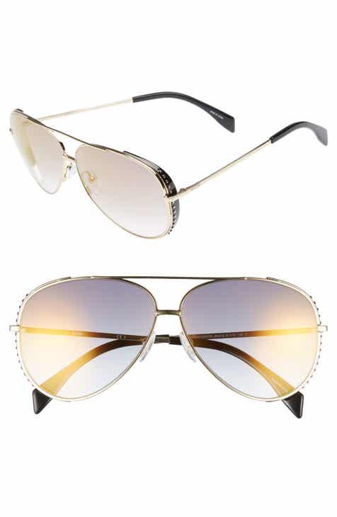 0d083786f2 Moschino 61mm Metal Aviator Sunglasses