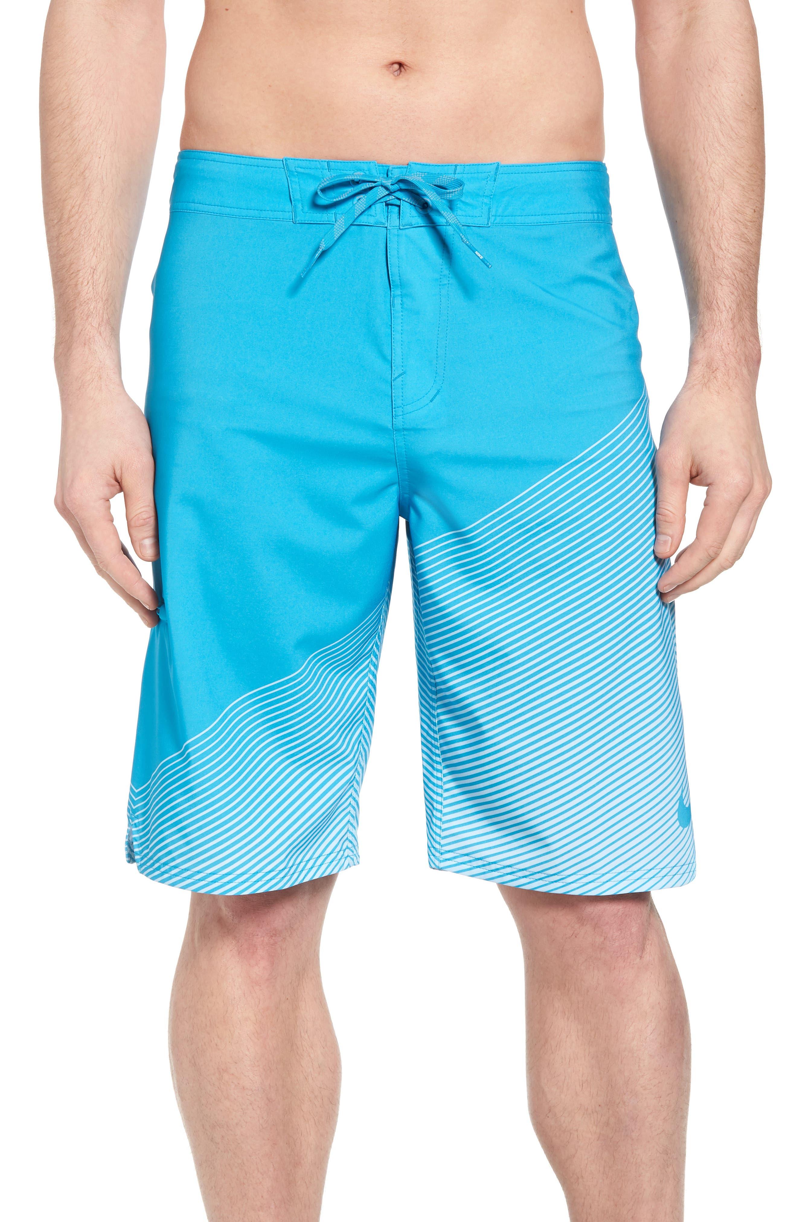 Jackknife Board Shorts,                         Main,                         color, Lt Blue Fury