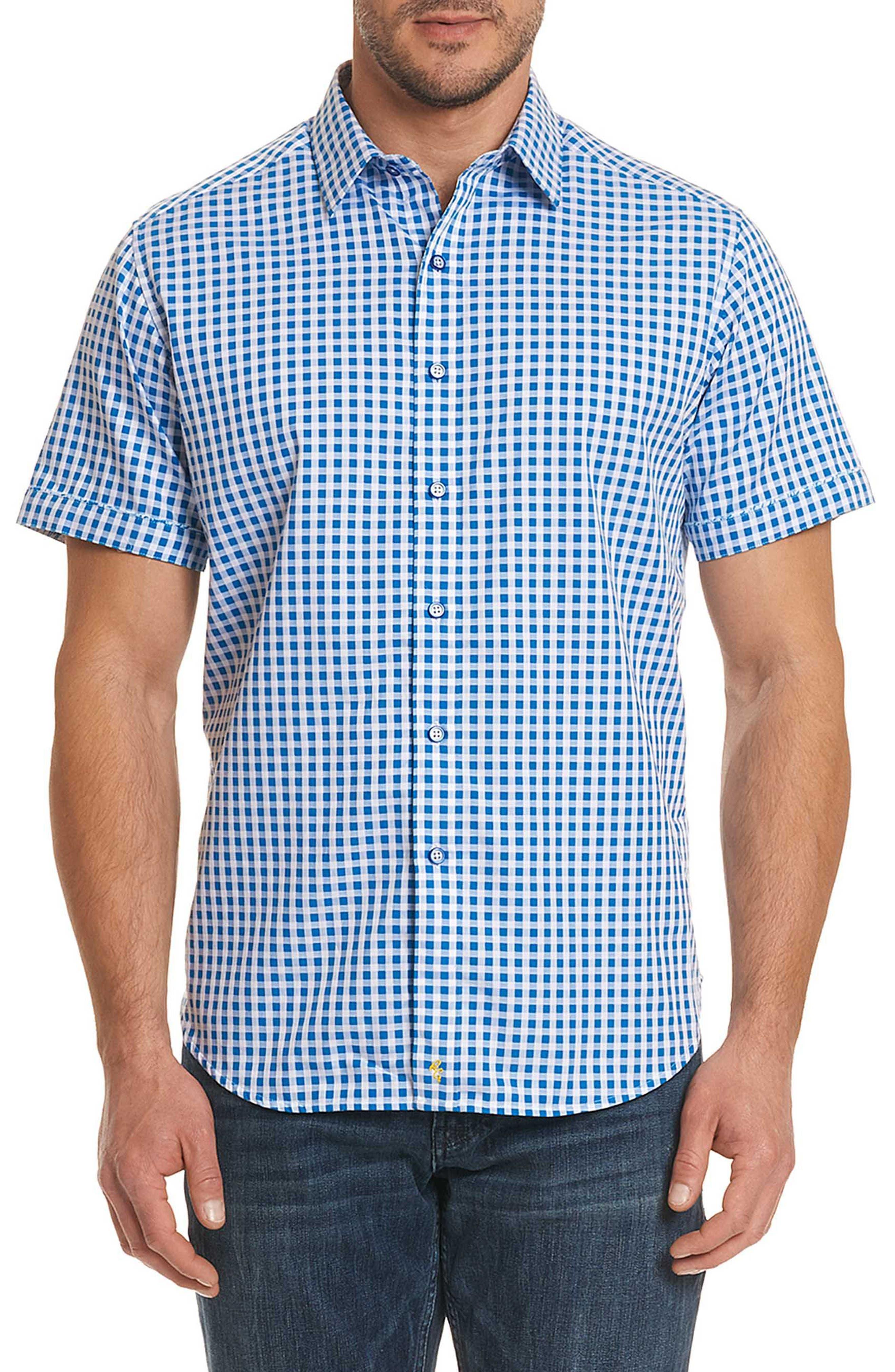 Morales Classic Fit Sport Shirt,                         Main,                         color, Blue