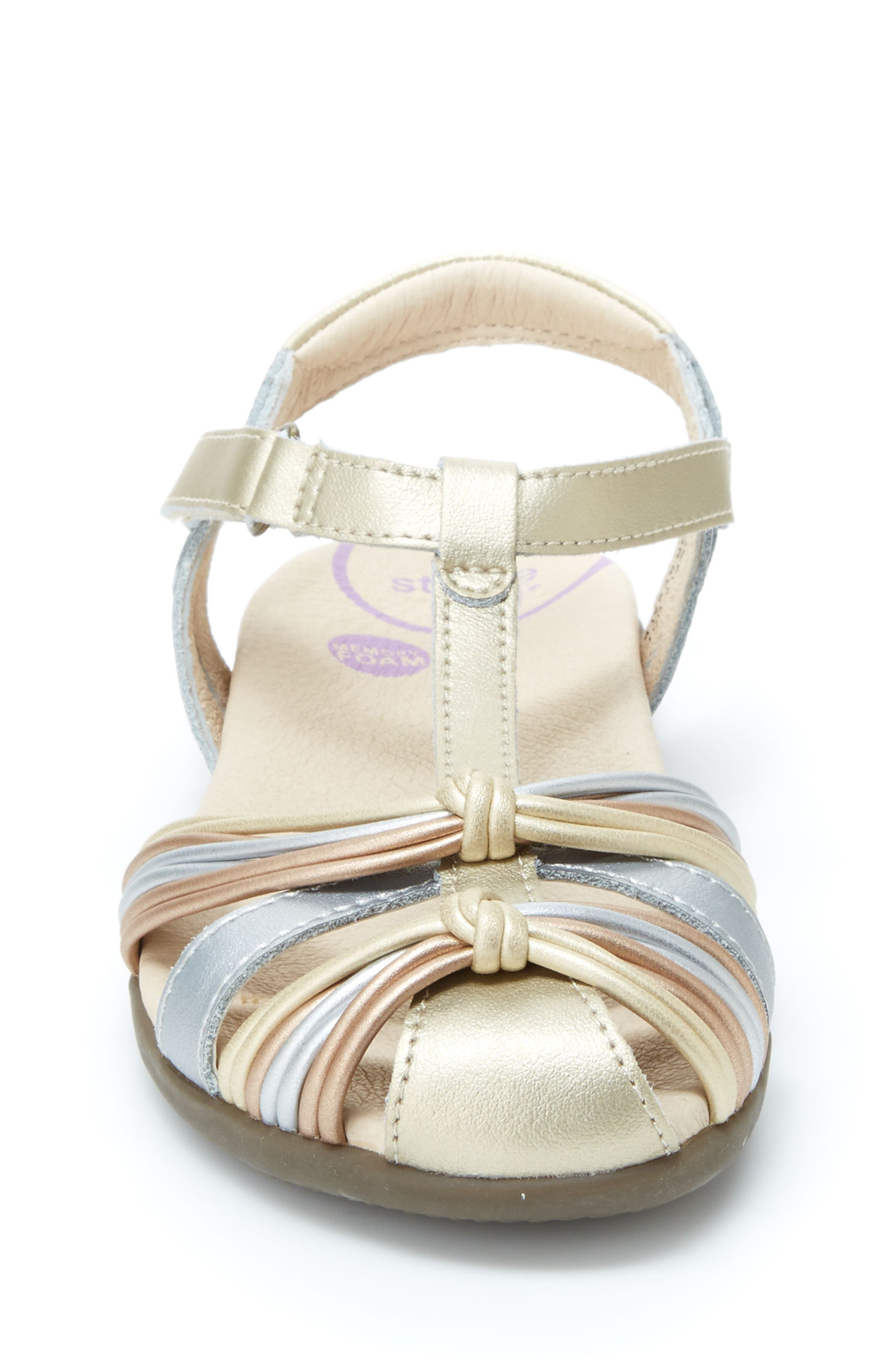 Dana T-Strap Sandal,                             Alternate thumbnail 3, color,                             Metallic Multi