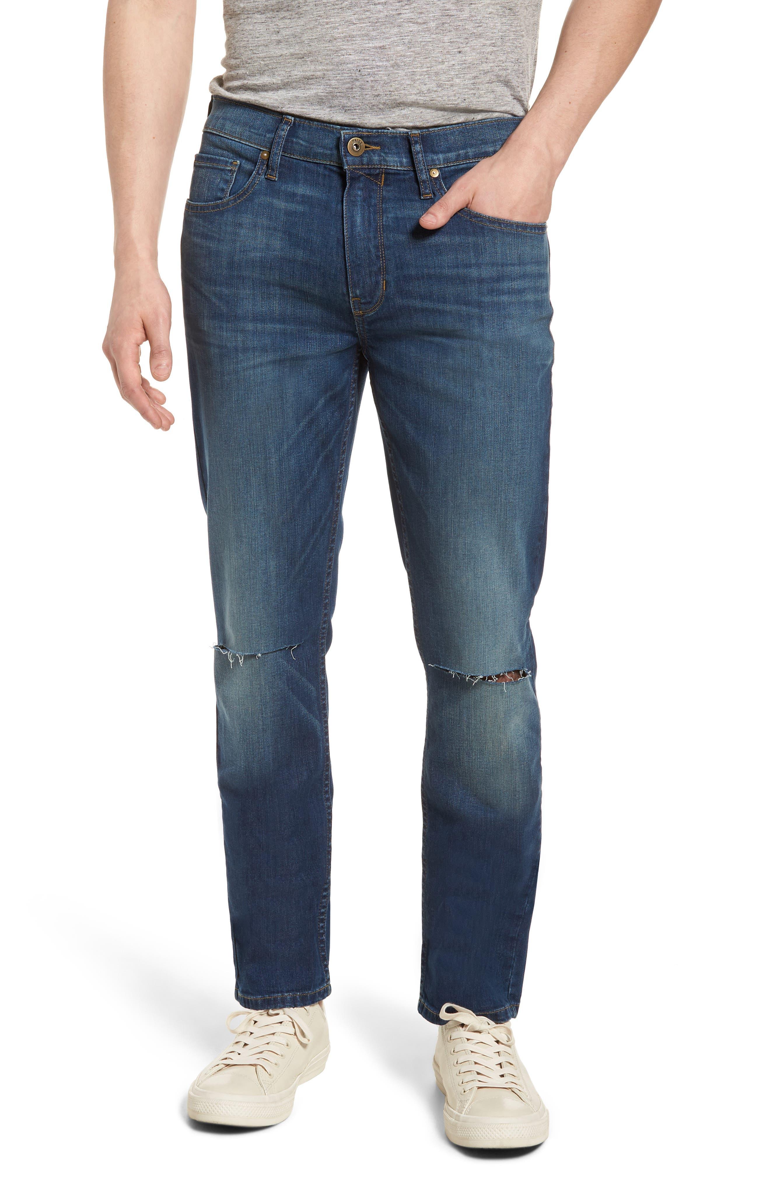 PAIGE Lennox Slim Fit Jeans (Harlan Destructed)