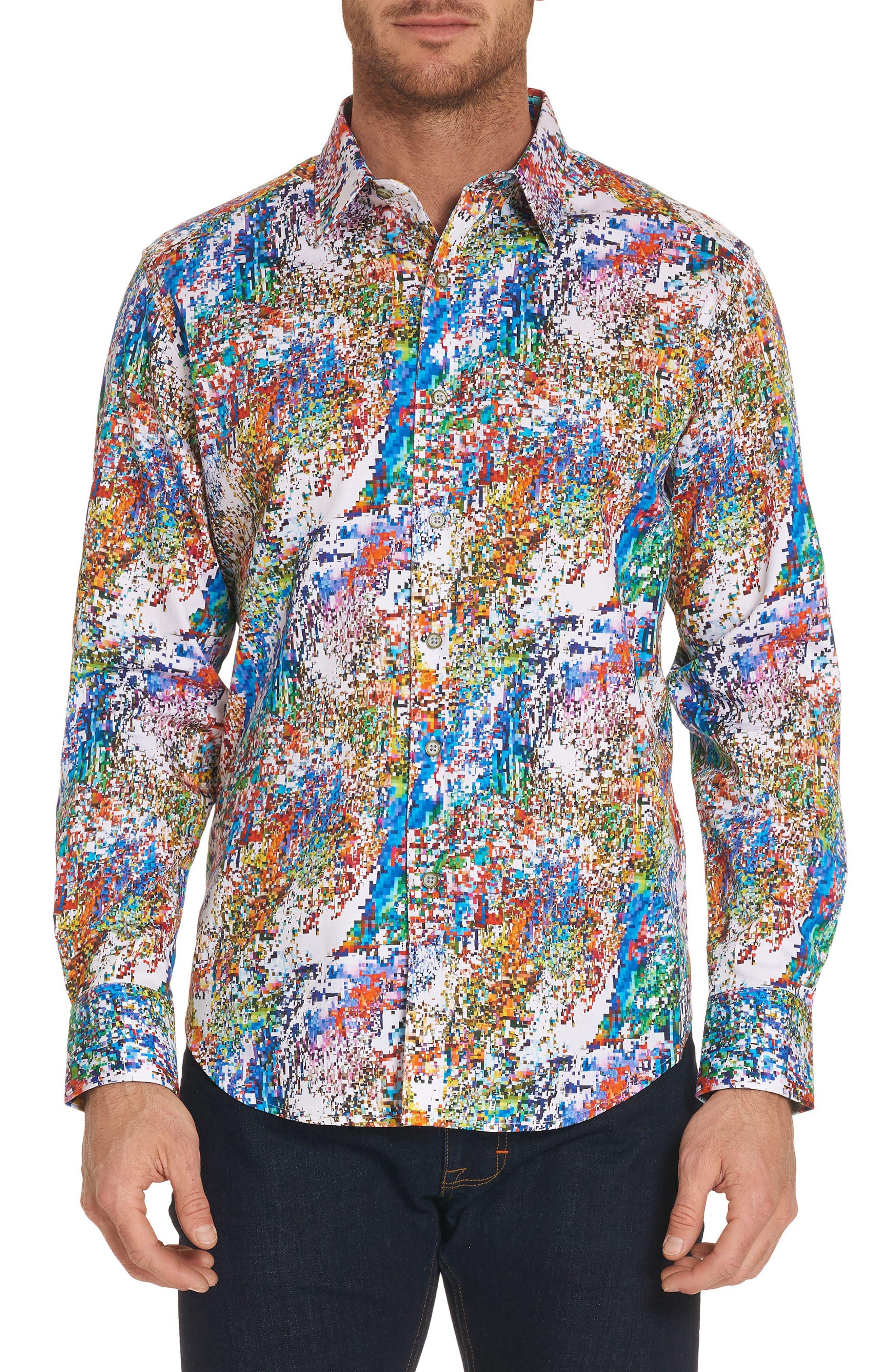Splash Classic Fit Sport Shirt,                             Main thumbnail 1, color,                             Multi