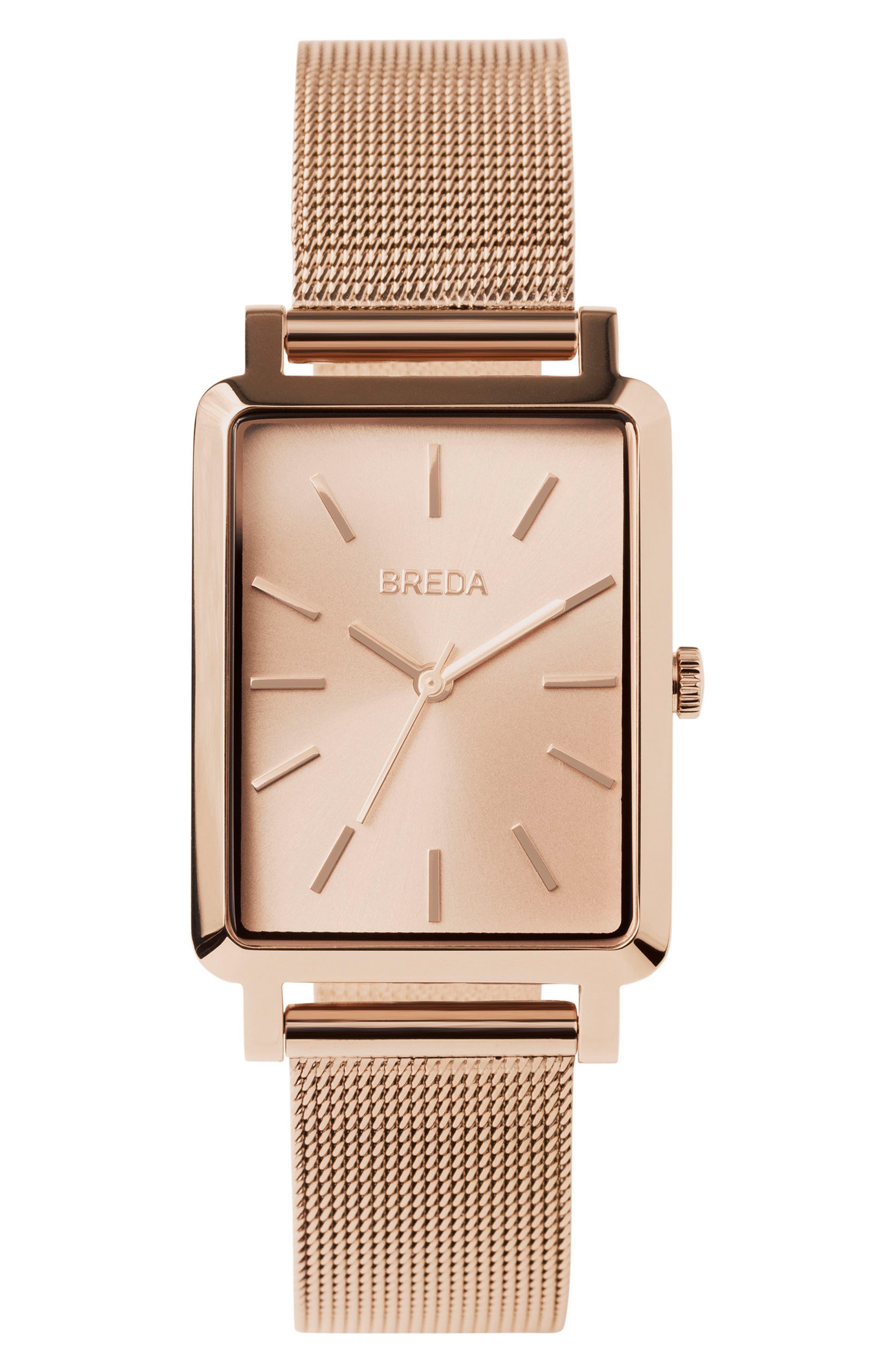 Baer Mesh Strap Watch, 26mm,                         Main,                         color, Rose Gold