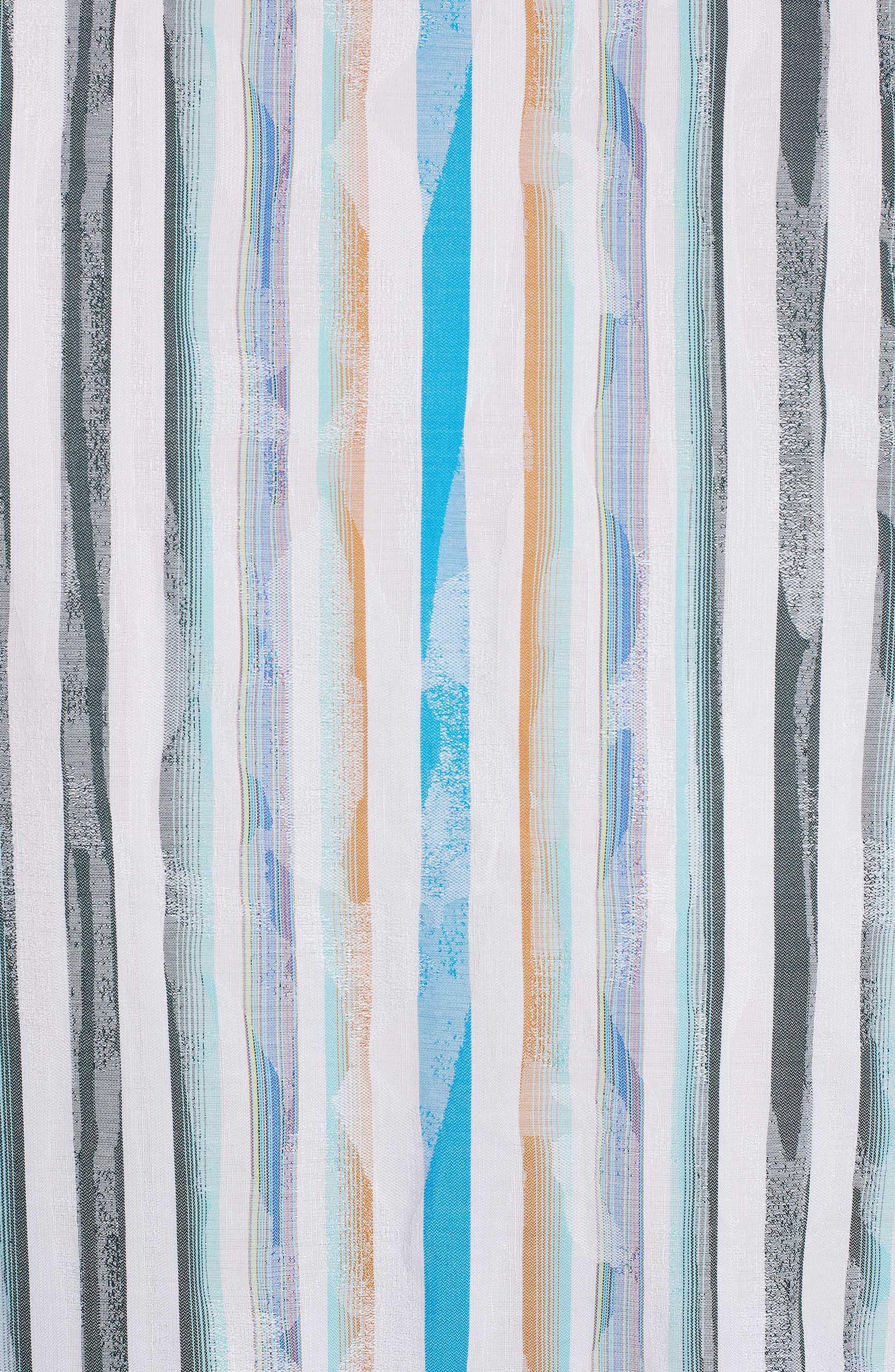 Murals Classic Fit Stripe Sport Shirt,                             Alternate thumbnail 6, color,                             White