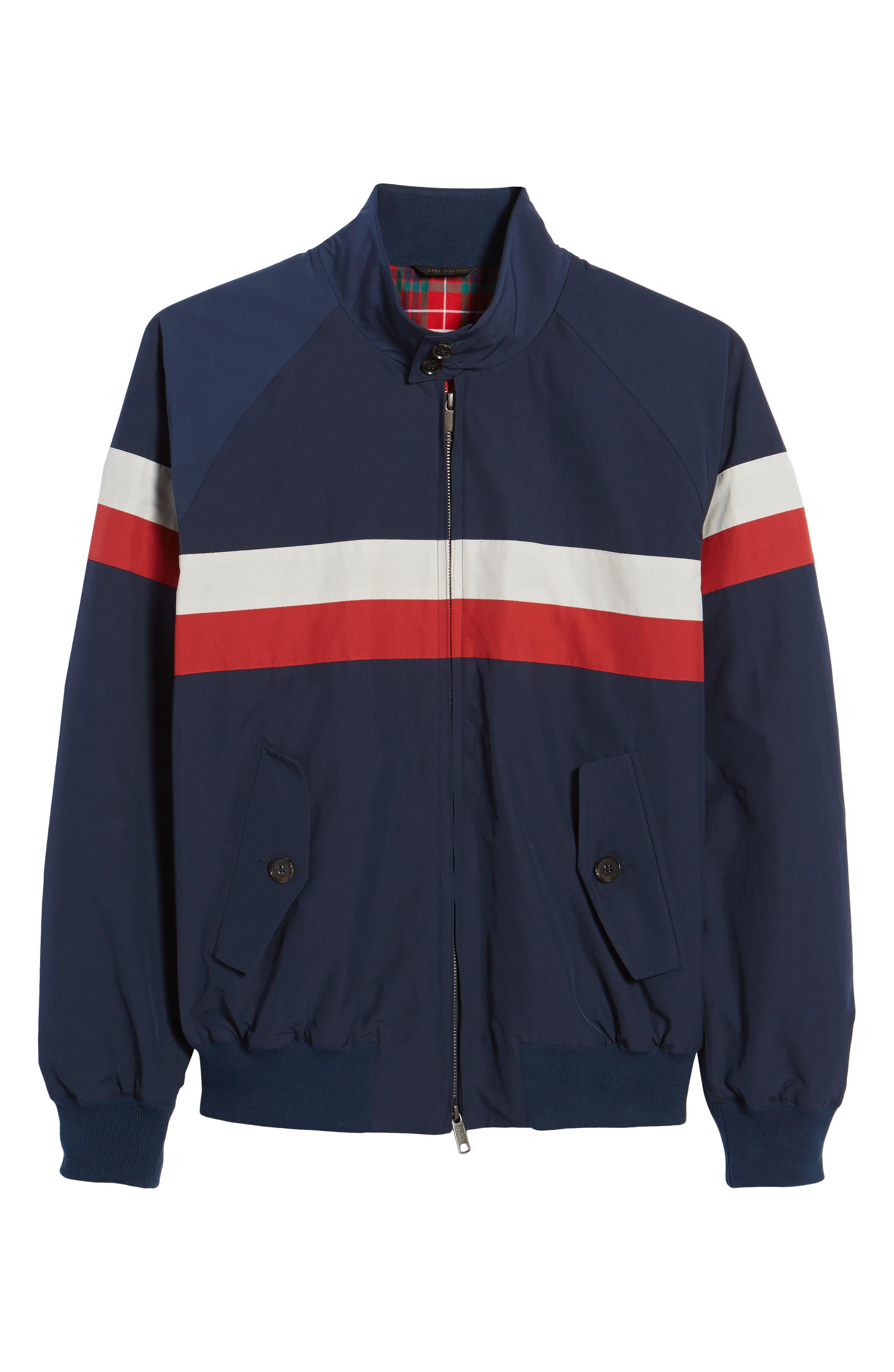 G9 Varsity Jacket,                             Alternate thumbnail 6, color,                             Navy