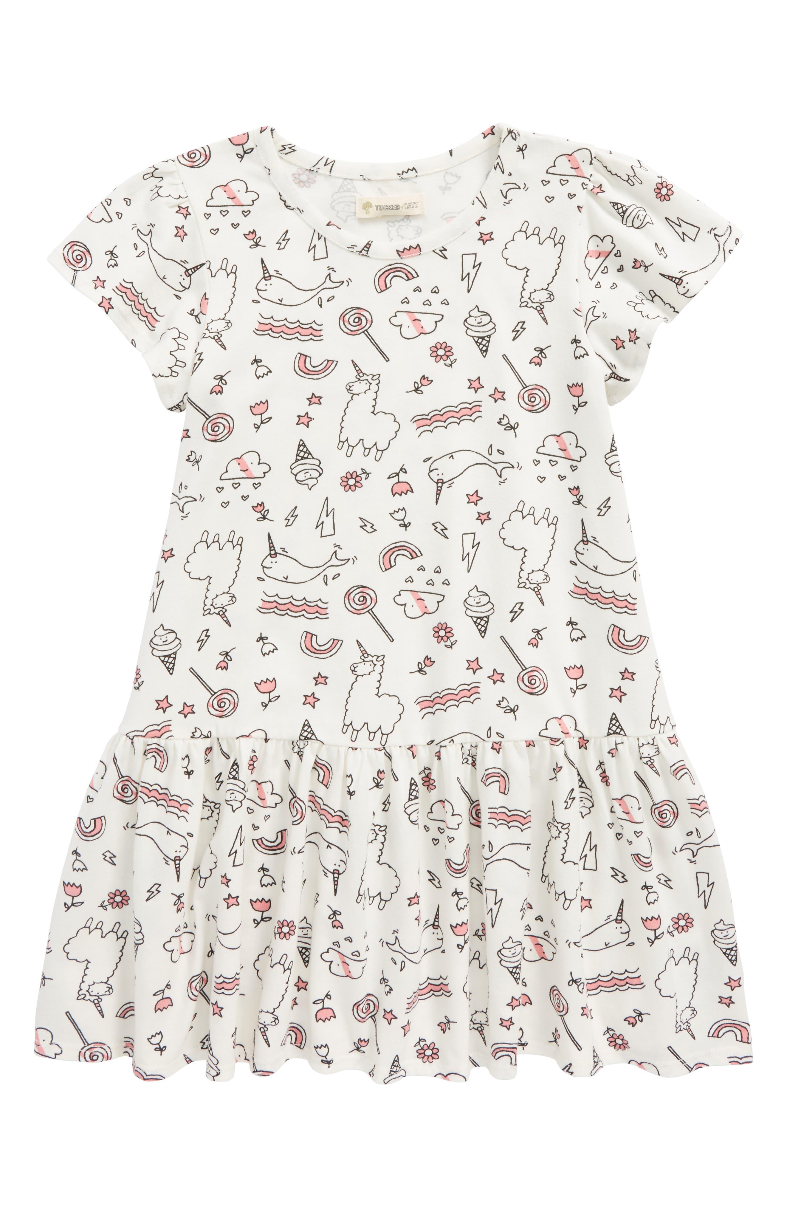 Tucker & Tate Print Jersey Dress (Toddler Girls, Little Girls & Big Girls)