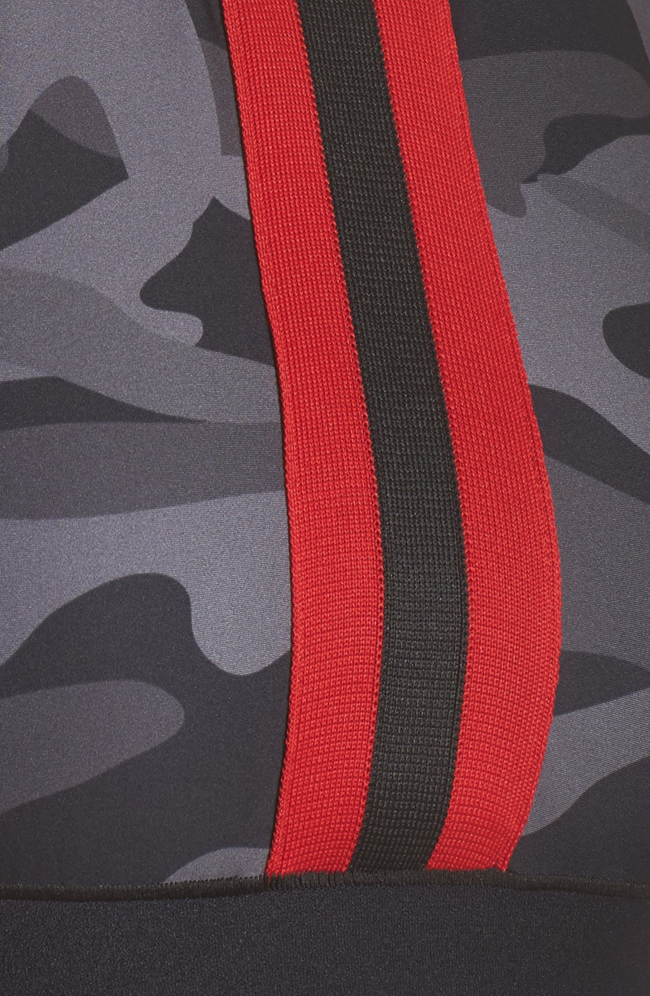 Level Camo Collegiate Crop Top,                             Alternate thumbnail 5, color,                             Nero Rouge