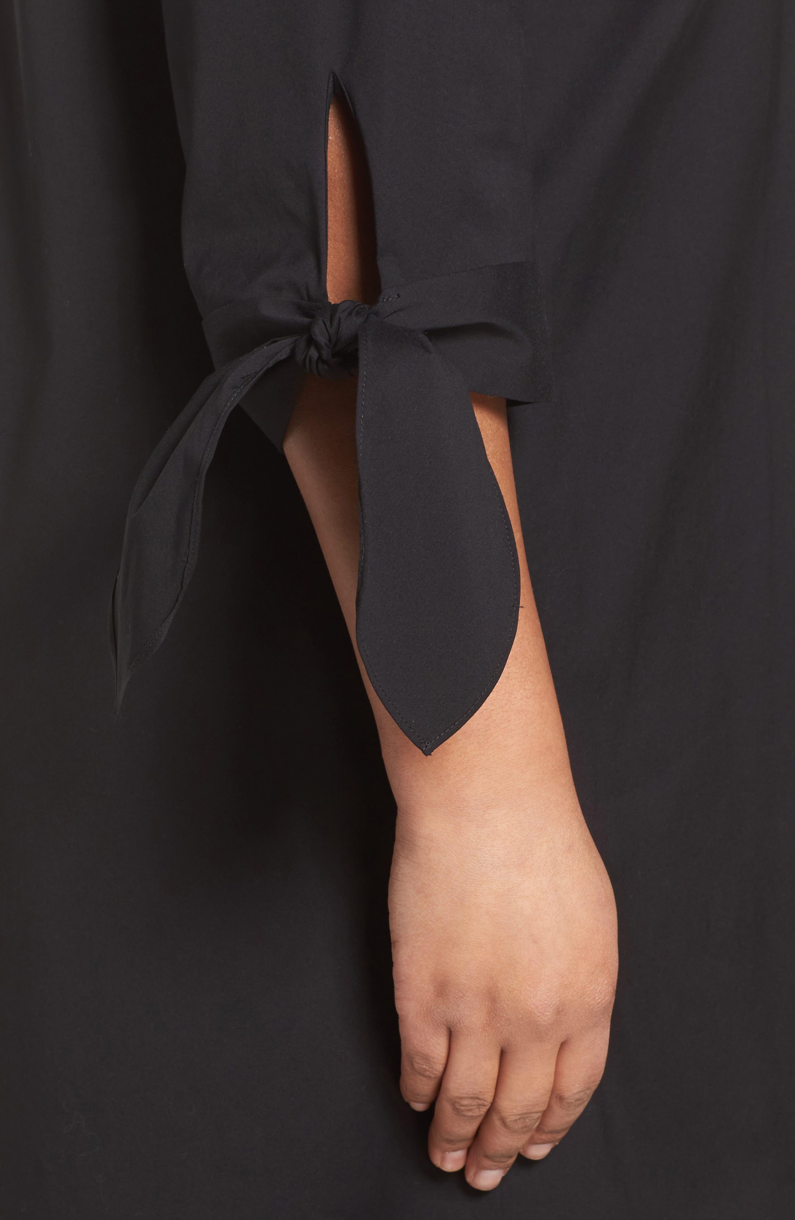 Lafayette 148 Talia Shirtdress,                             Alternate thumbnail 4, color,                             Black