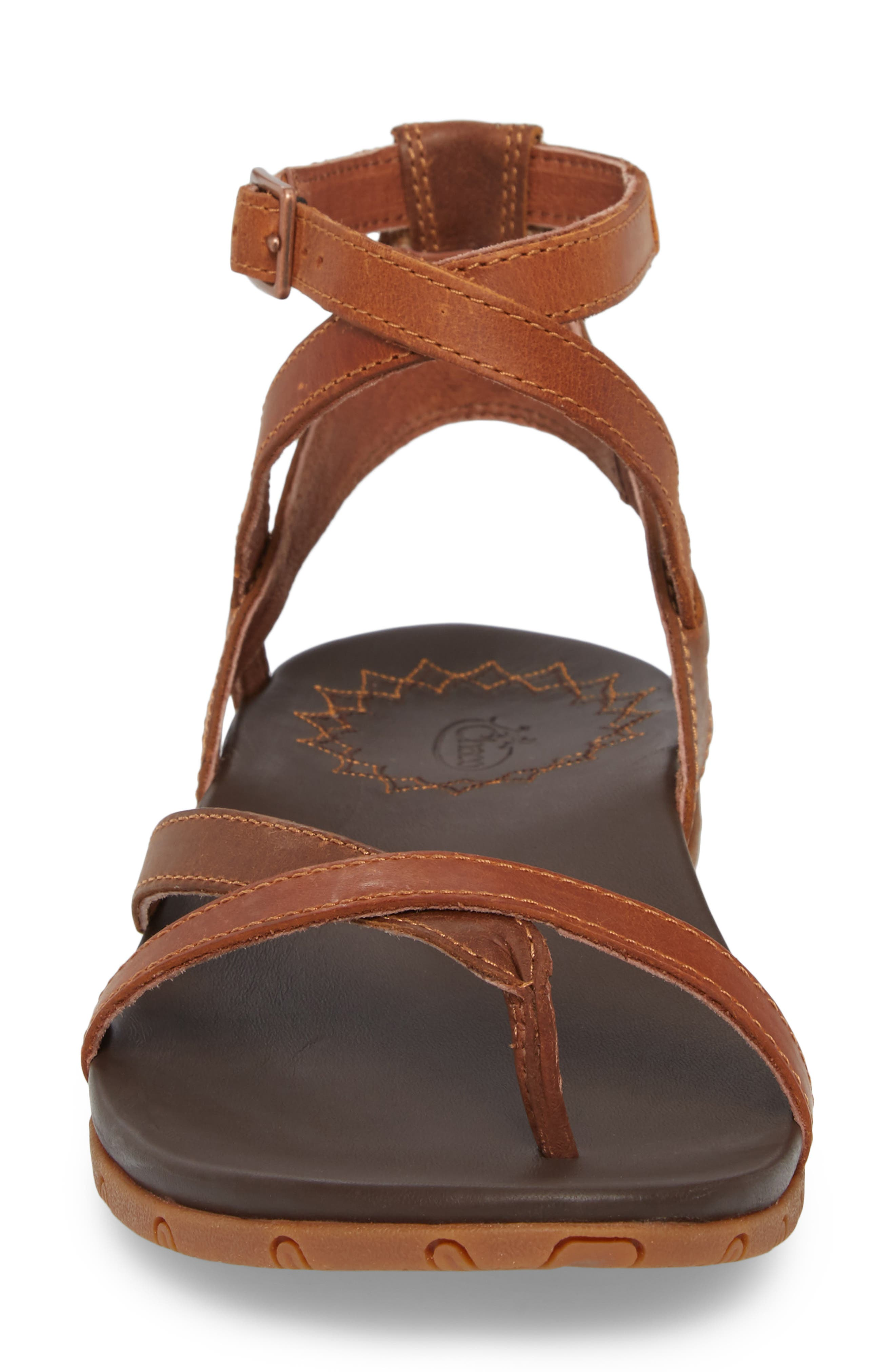 Juniper Sandal,                             Alternate thumbnail 4, color,                             Rust Leather