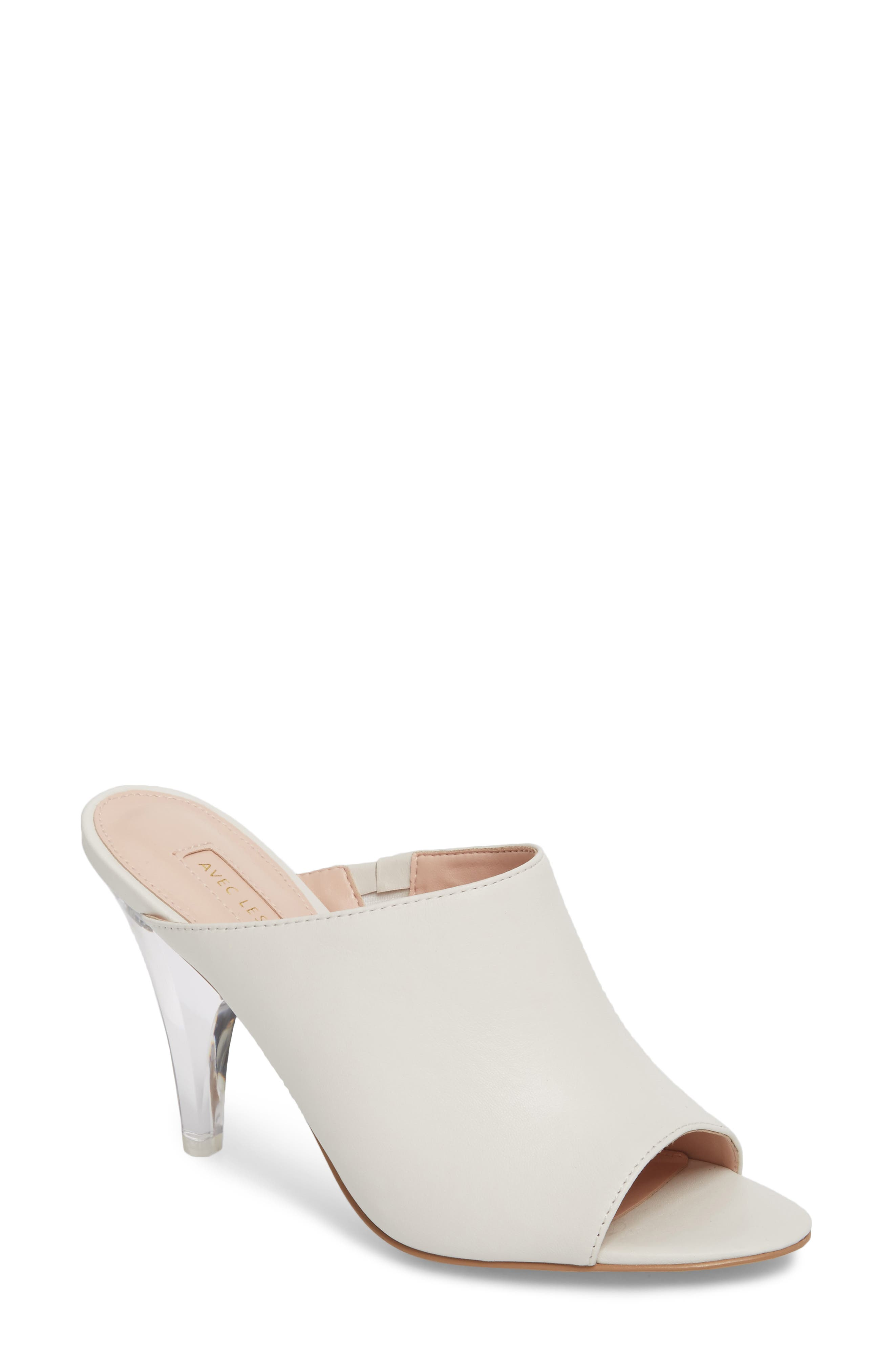 Jazz Off Sandal,                             Main thumbnail 1, color,                             Off White Leather