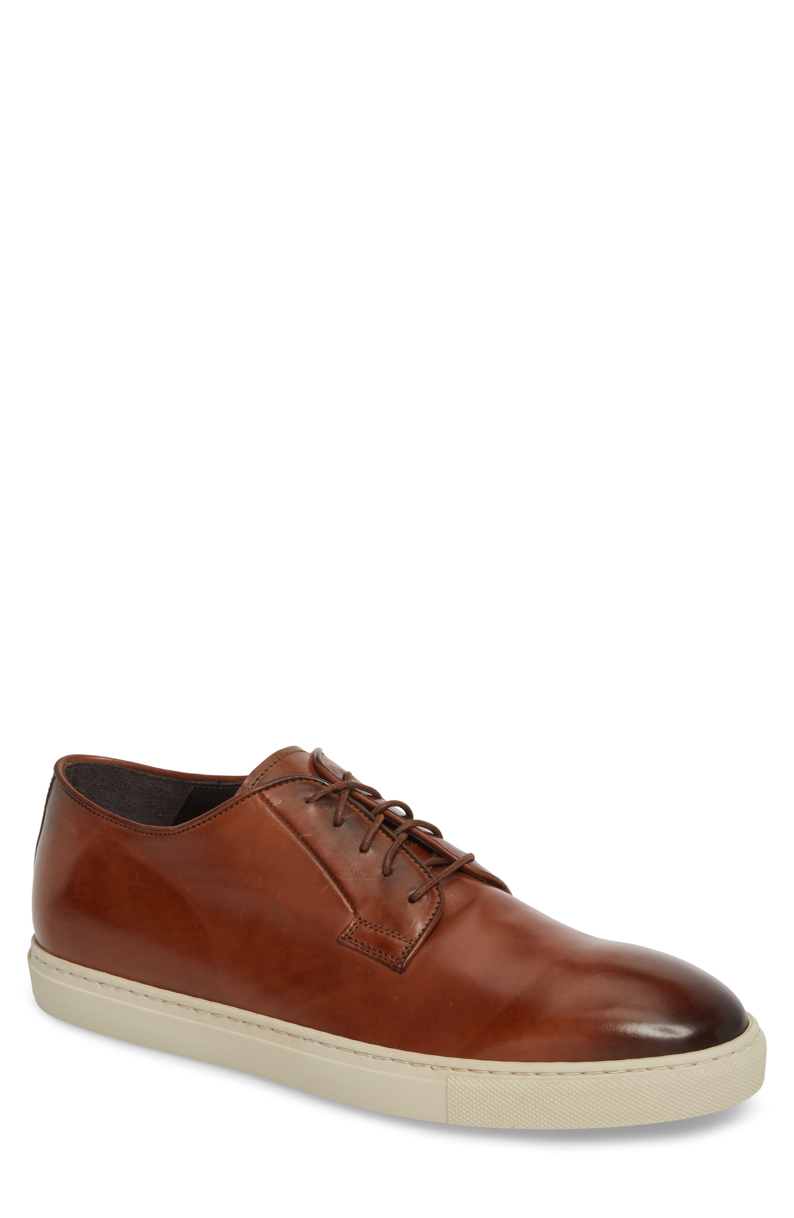 Plain Toe Derby Sneaker,                             Main thumbnail 1, color,                             Diver Tan Leather