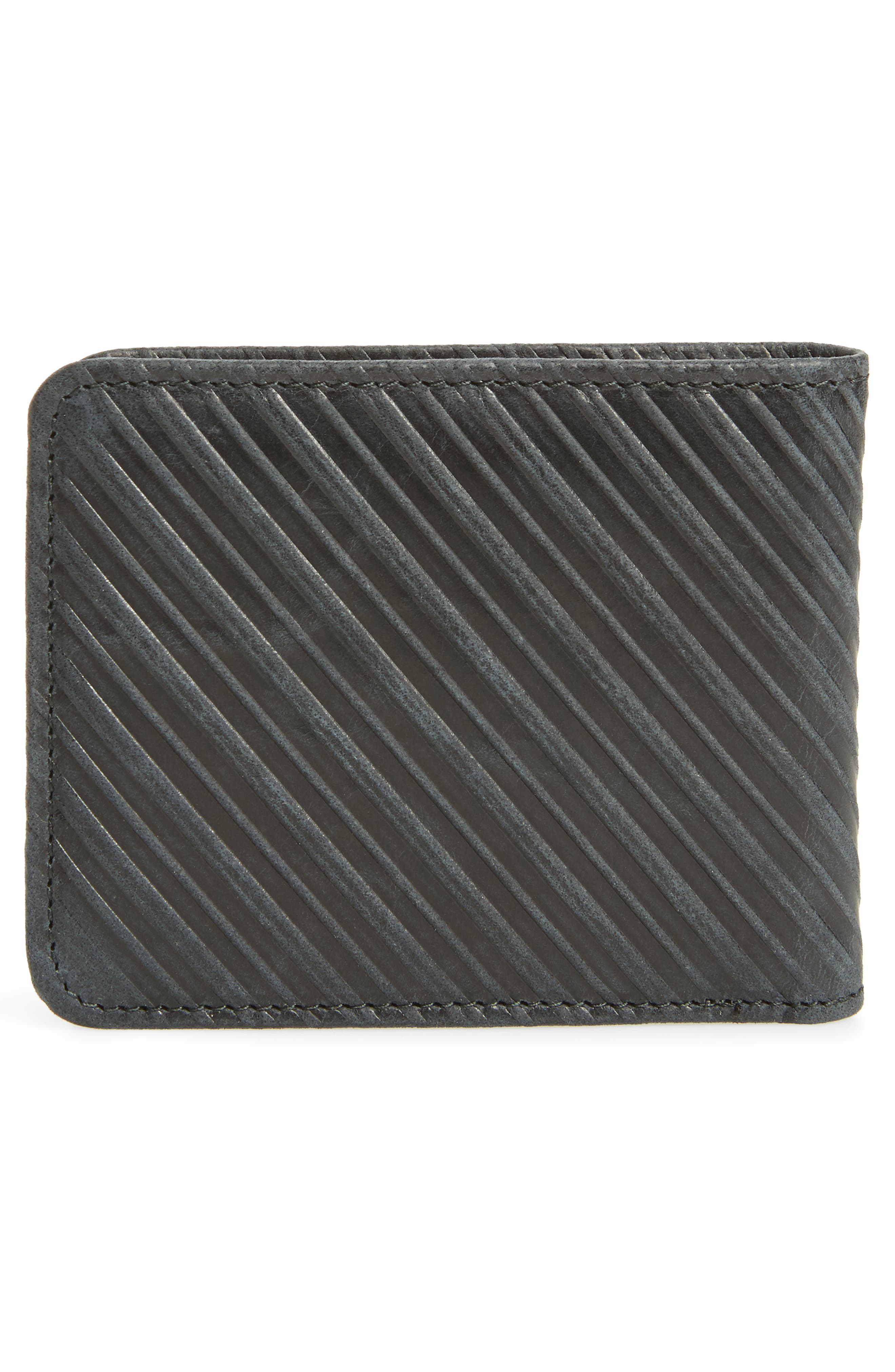 Bifold Leather Wallet,                             Alternate thumbnail 3, color,                             Black