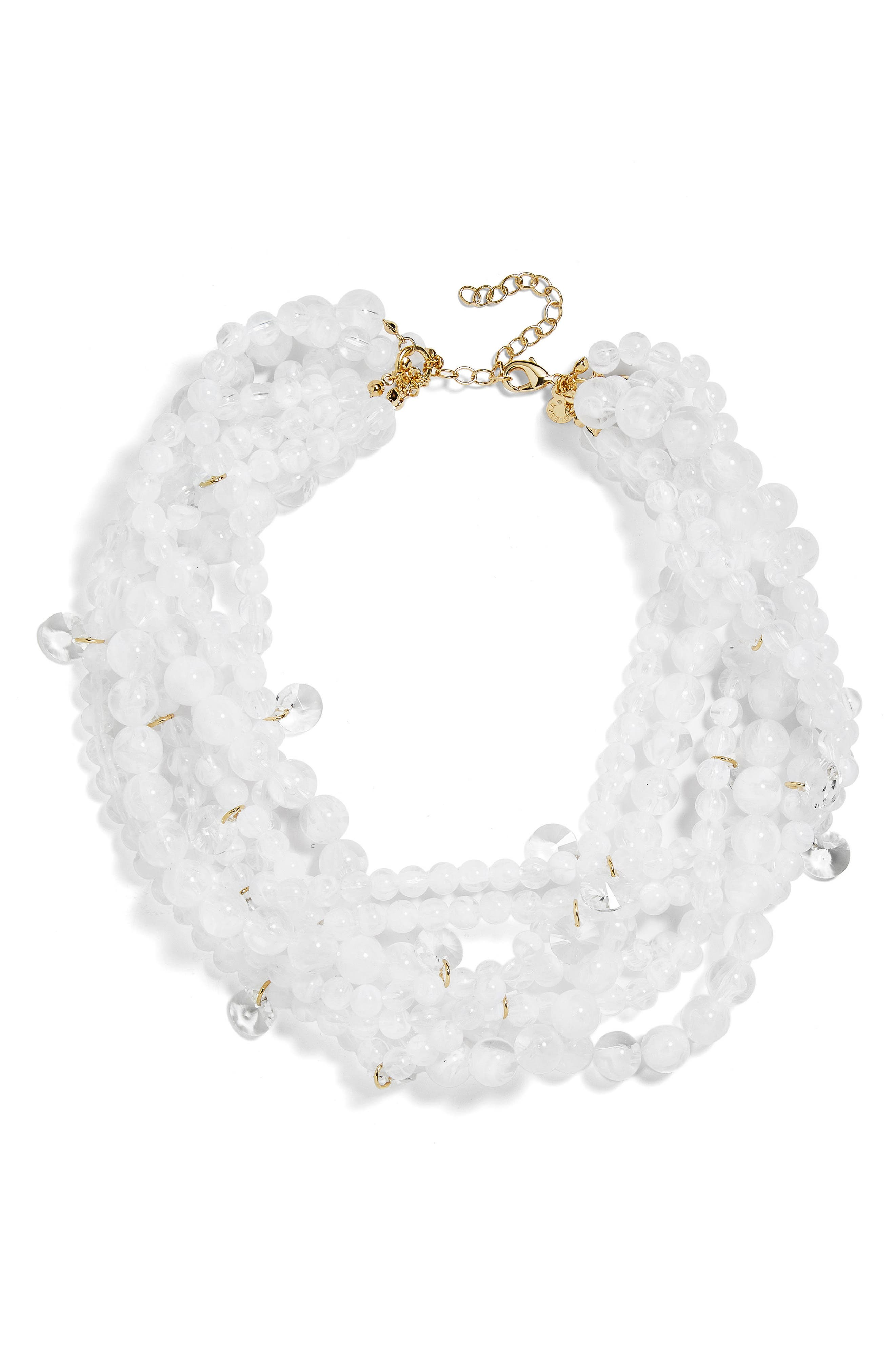 Bubblebeam Statement Necklace,                             Main thumbnail 1, color,                             White