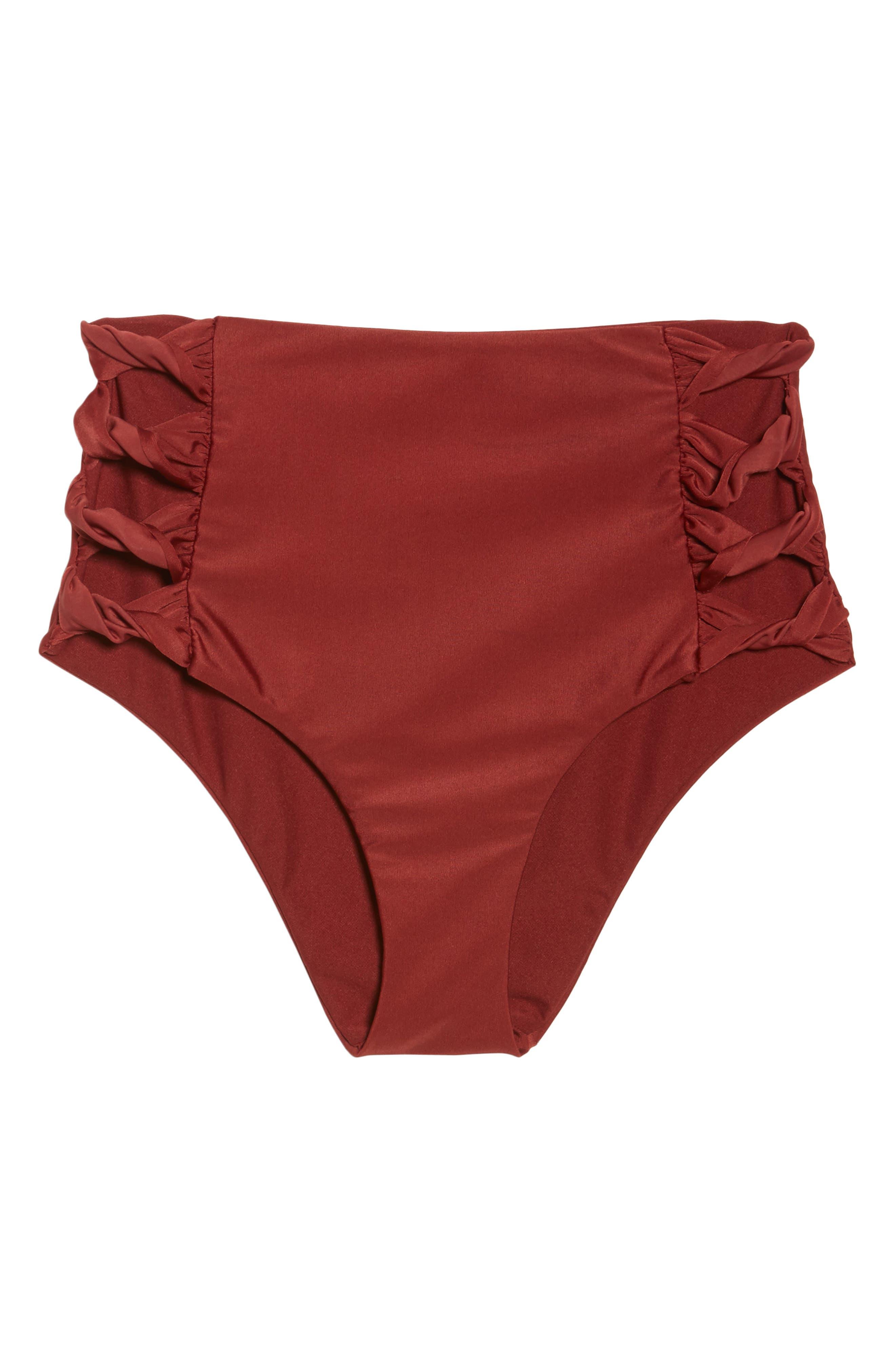 Alternate Image 9  - BCA Love Letters High Waist Bikini Bottoms