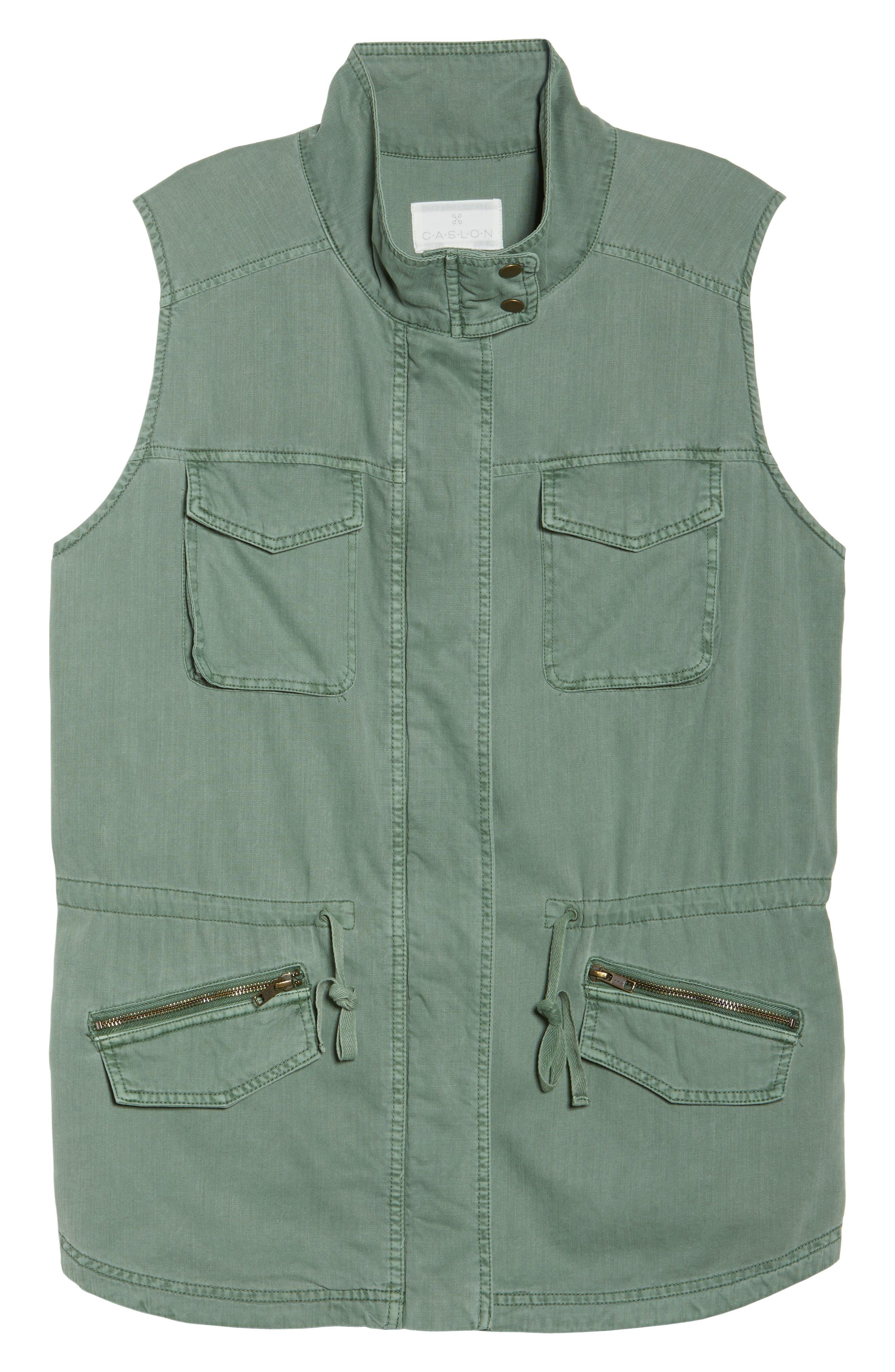 Utility Vest,                             Alternate thumbnail 3, color,                             Green Dune