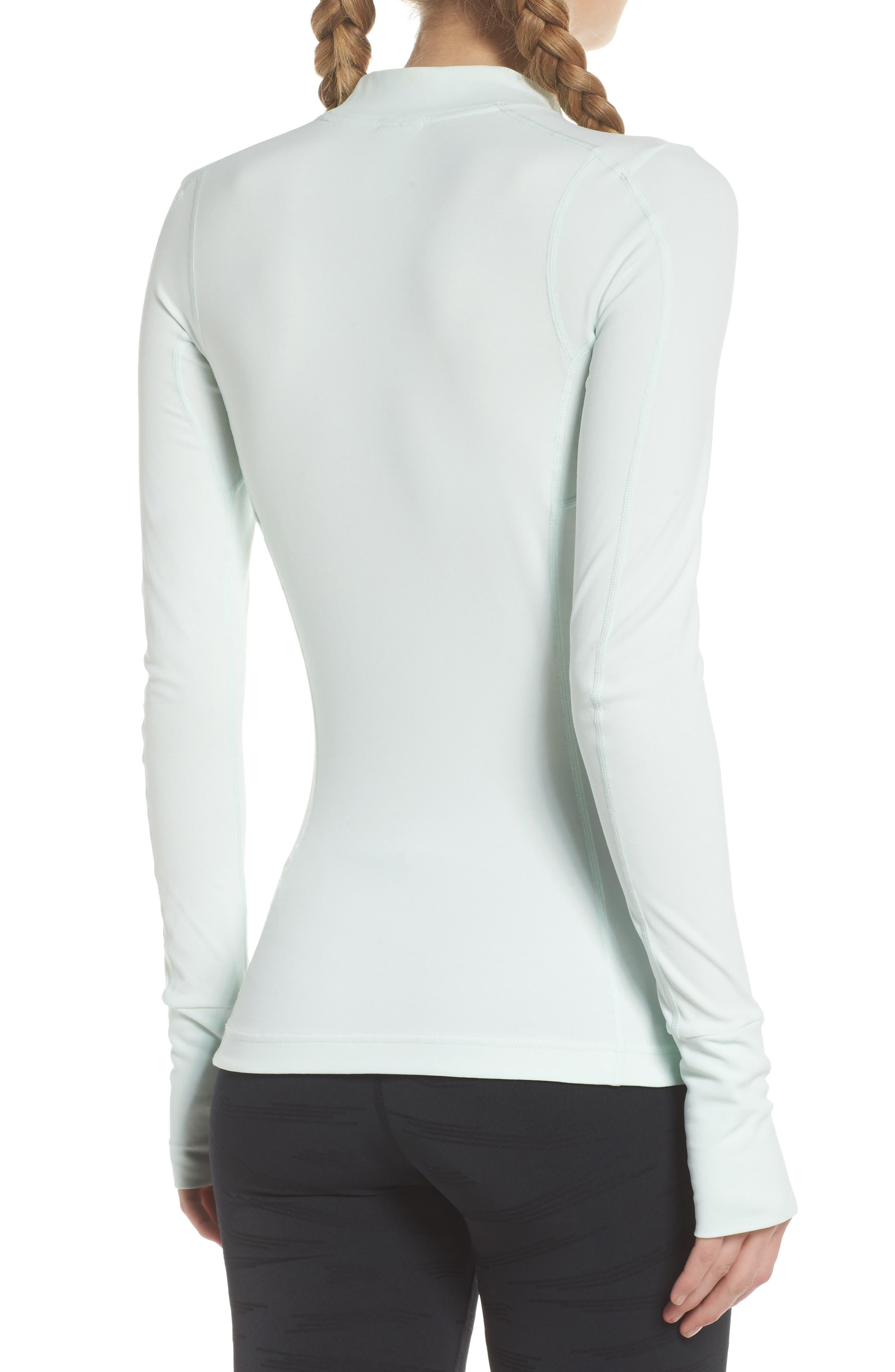 NikeLab ACG Long Sleeve Women's Top,                             Alternate thumbnail 2, color,                             Barely Green/ Black