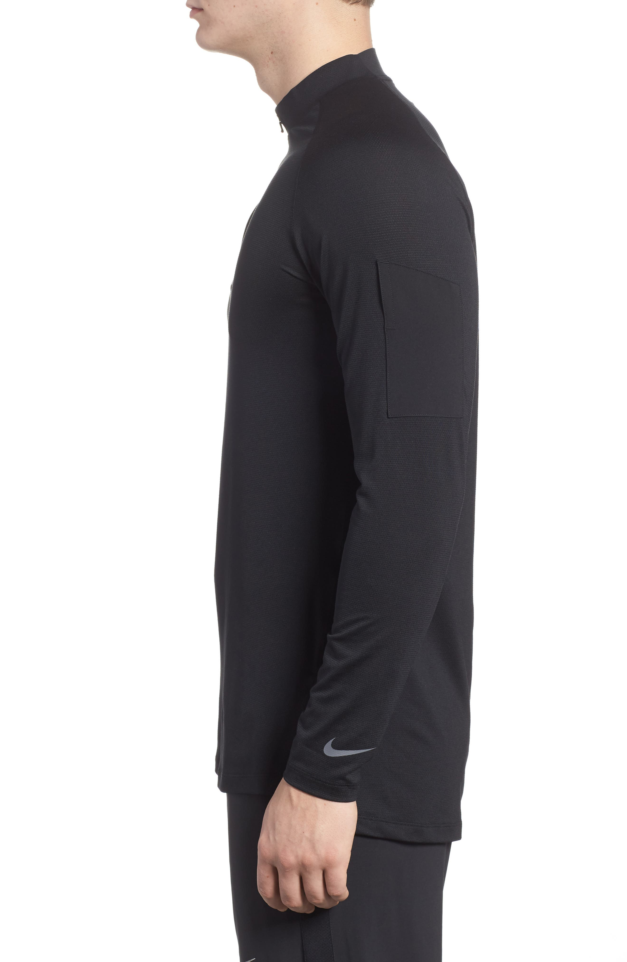 Pro Fitted Utility Dry Tech Sport Top,                             Alternate thumbnail 3, color,                             Black/ Black