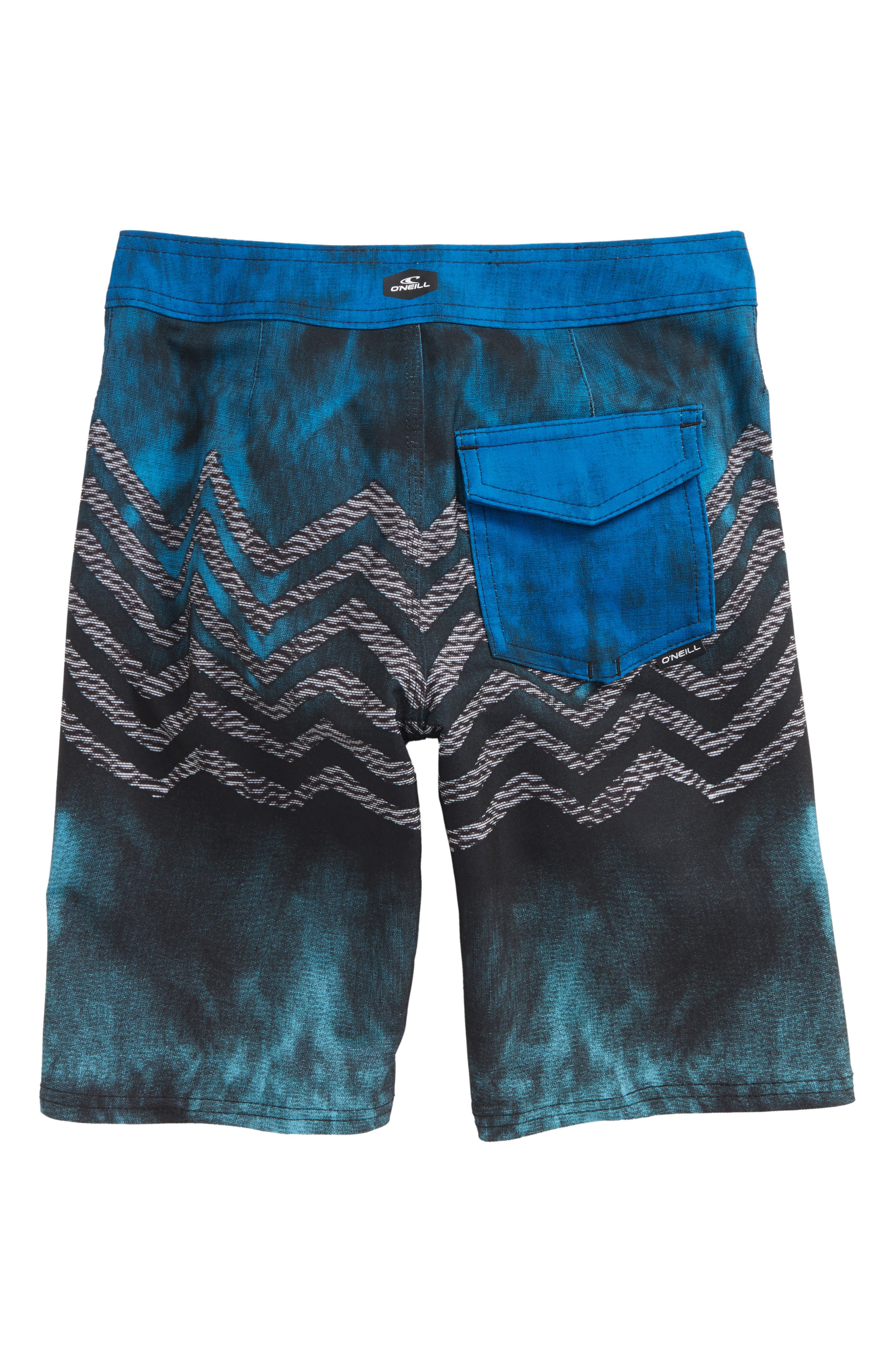 Hyperfreak Zigee Print Board Shorts,                             Alternate thumbnail 2, color,                             Blue