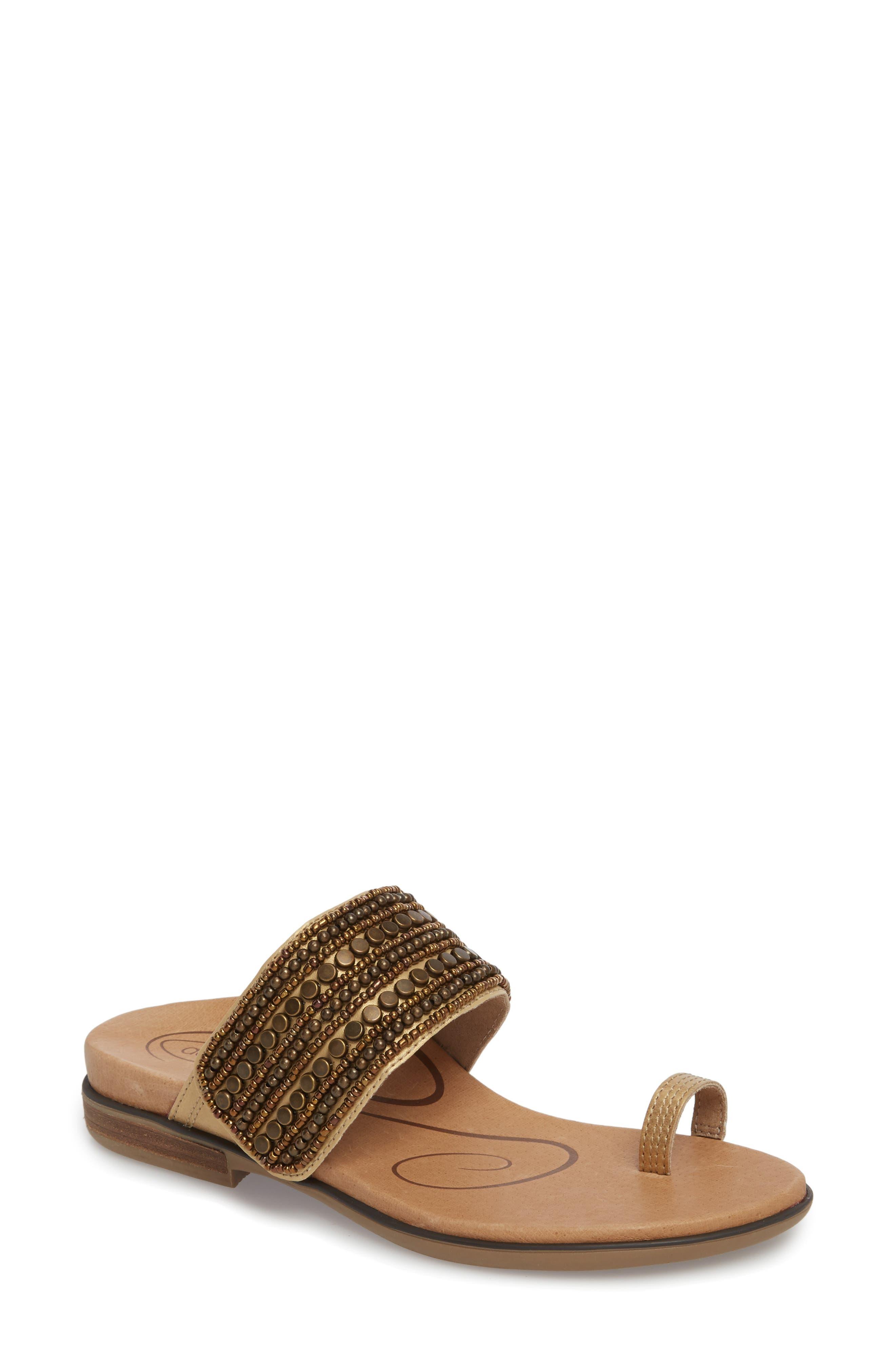 Aetrex Women's Layla Embellished Slide Sandal 57XPLW