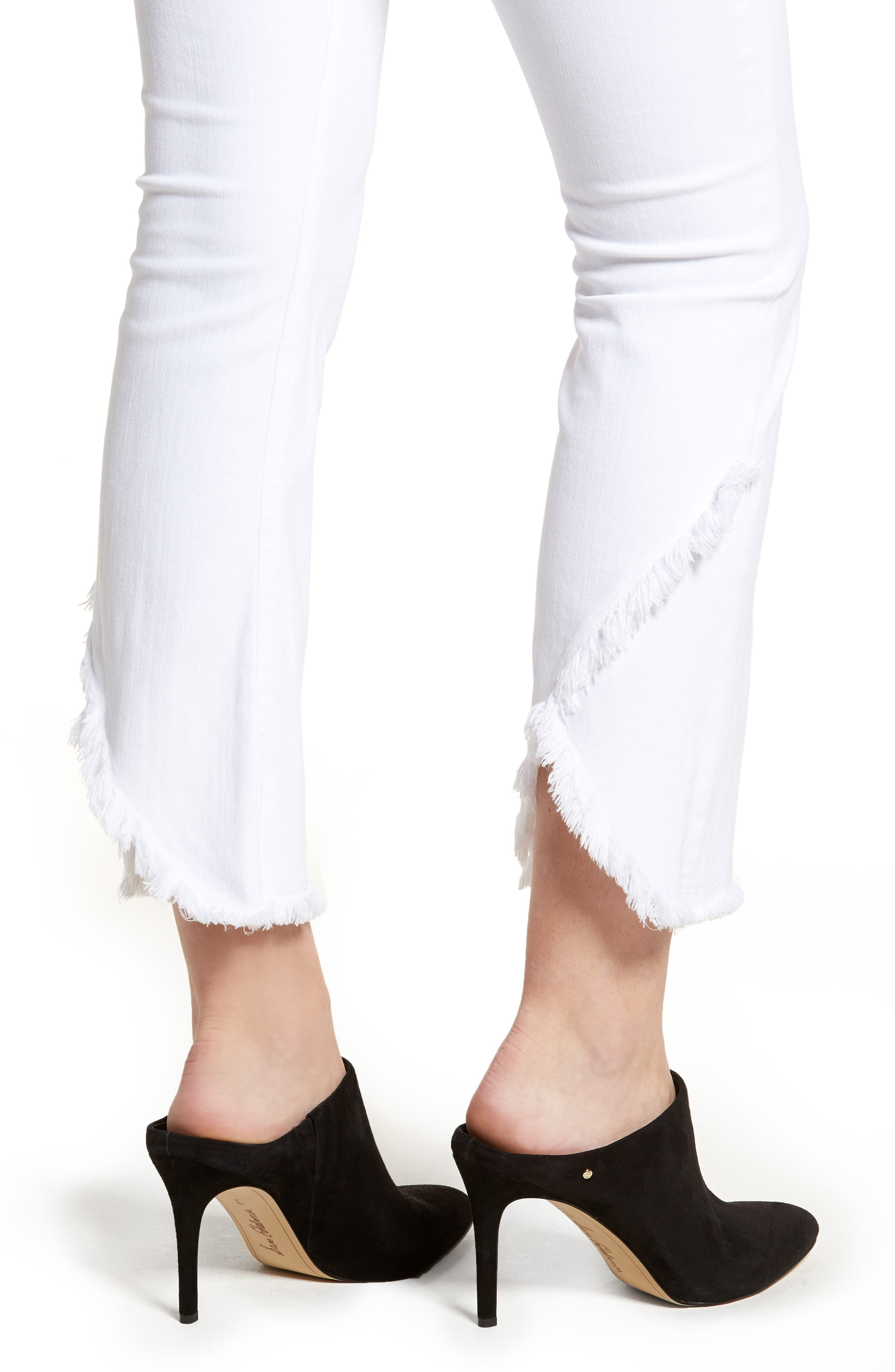 Alternate Image 4  - Citizens of Humanity Drew Flare Jeans (Optic White)