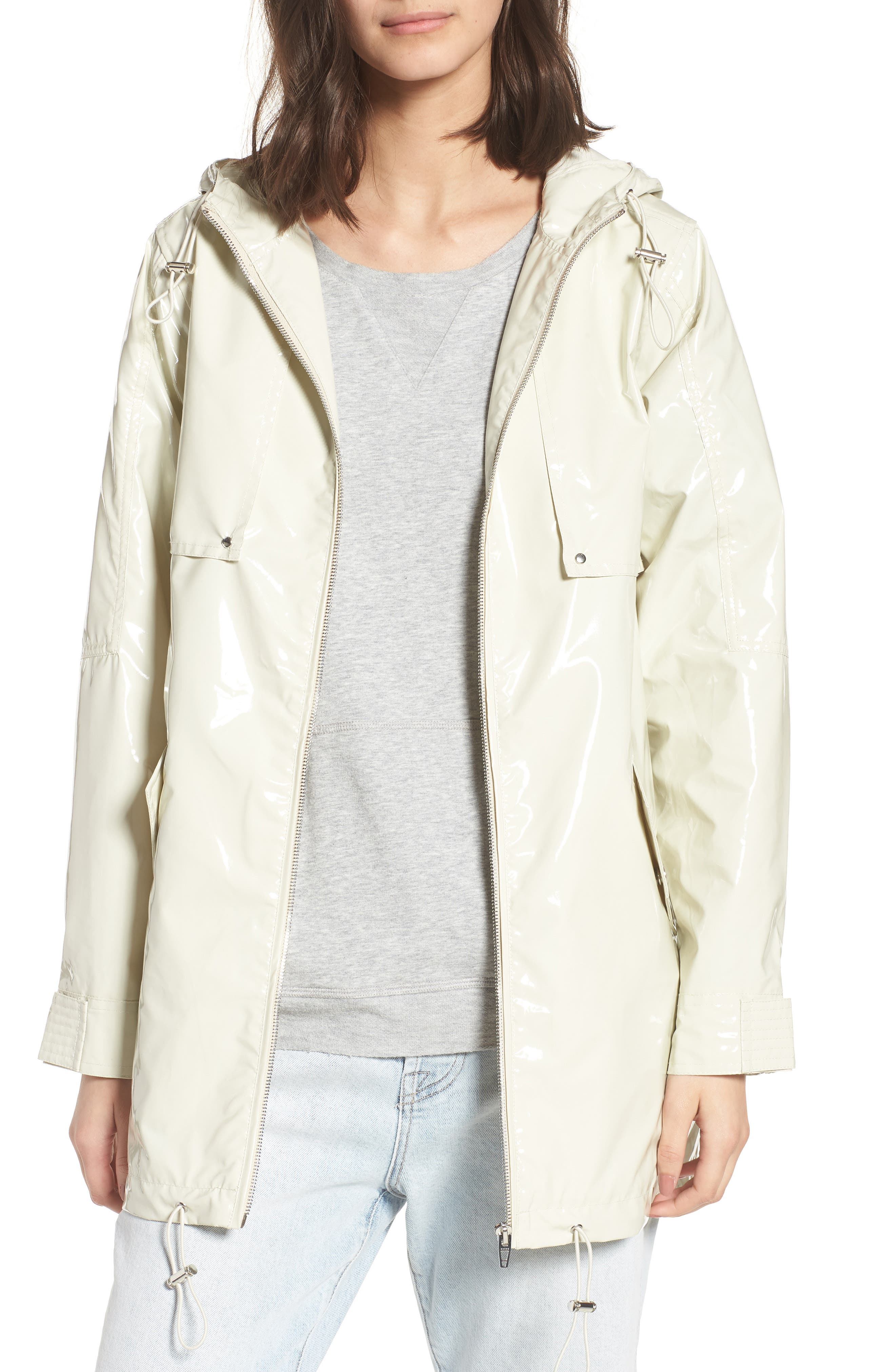 Patent Parka,                             Main thumbnail 1, color,                             White Chocolate Bone