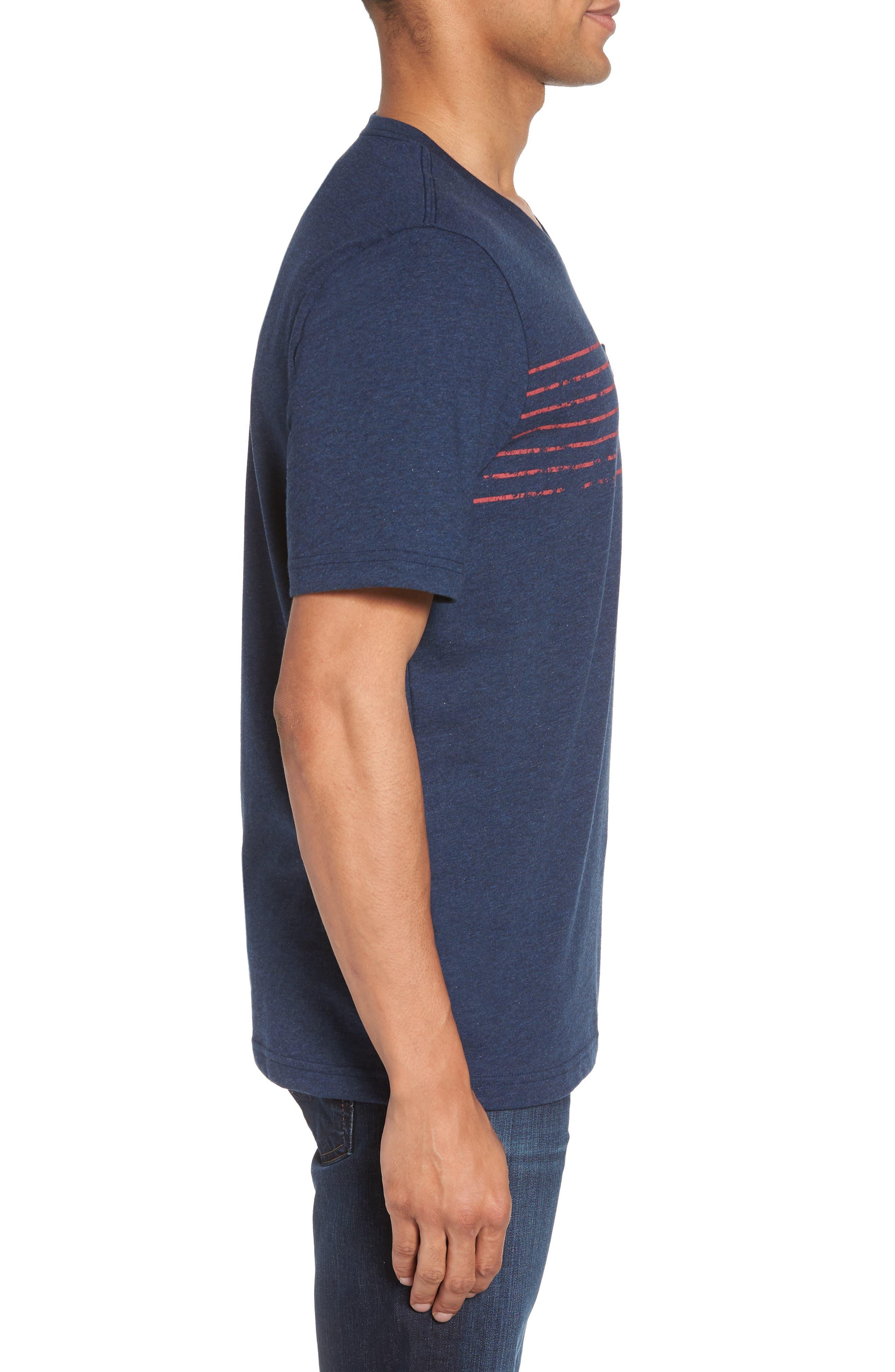 Bogue Pocket T-Shirt,                             Alternate thumbnail 3, color,                             Heather Blue Nights