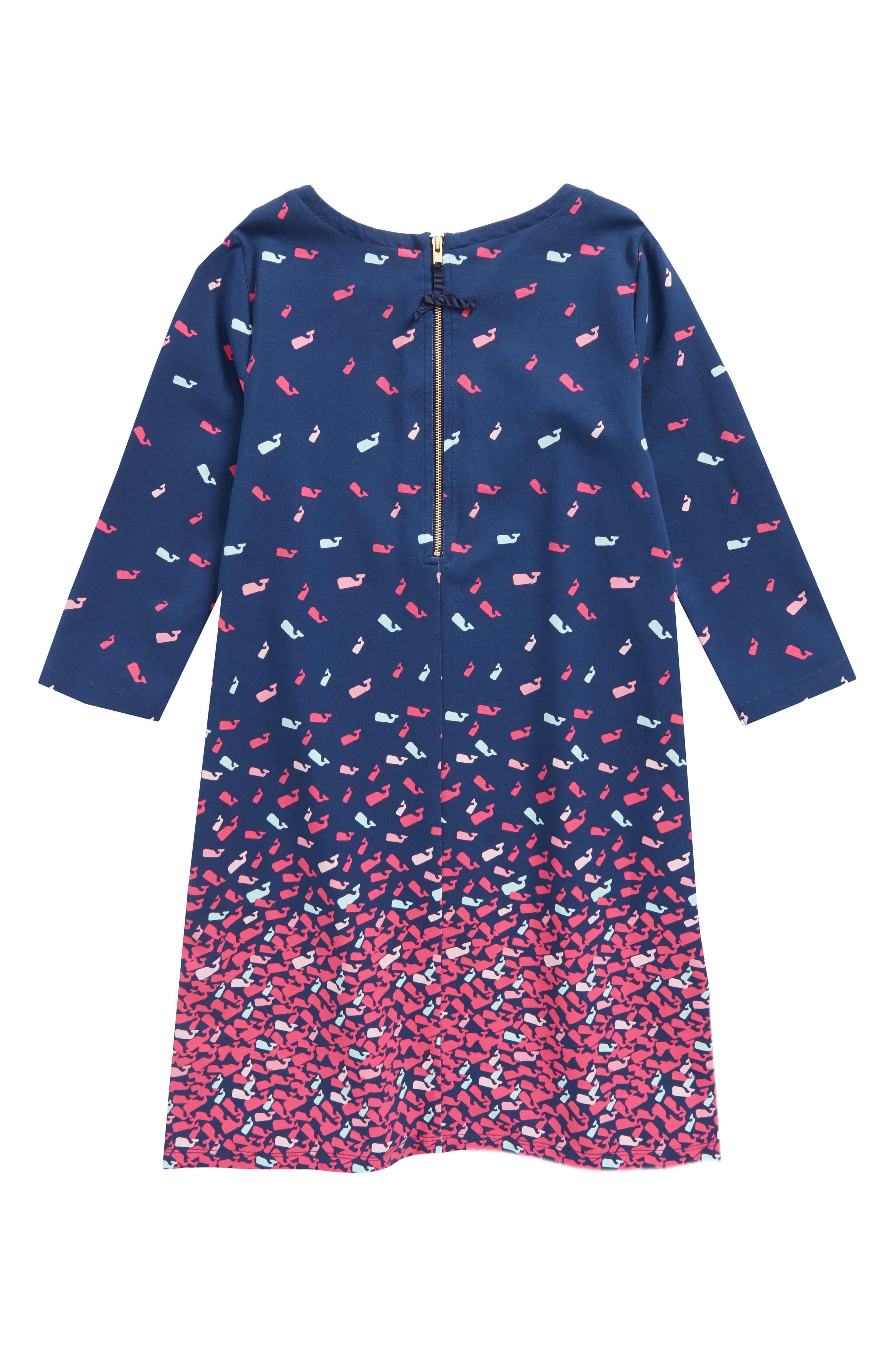 Alternate Image 2  - vineyard vines Gradient Whale Print Shift Dress (Toddler Girls, Little Girls & Big Girls)