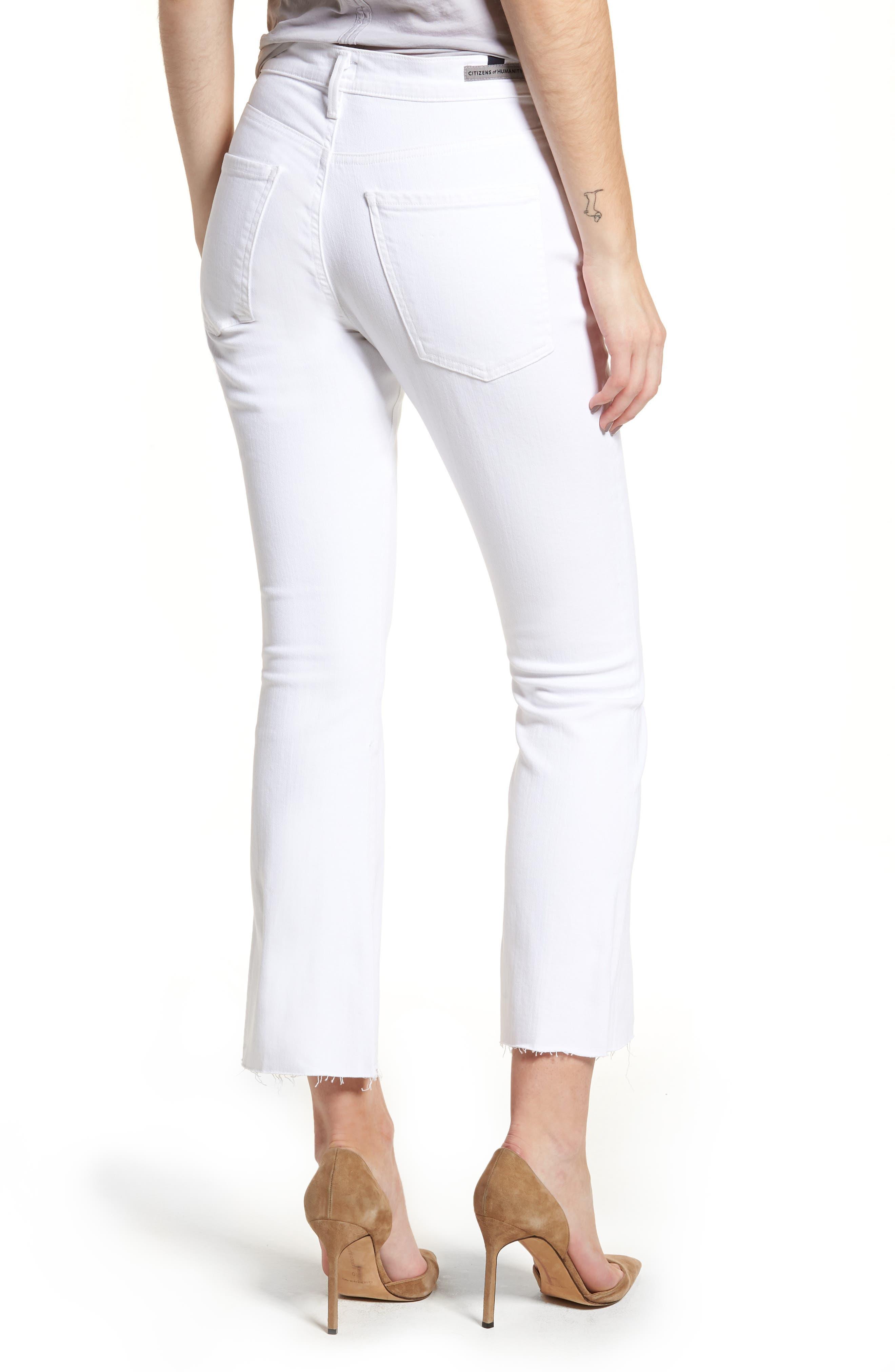 Fleetwood Crop Straight Leg Jeans,                             Alternate thumbnail 2, color,                             Optic White