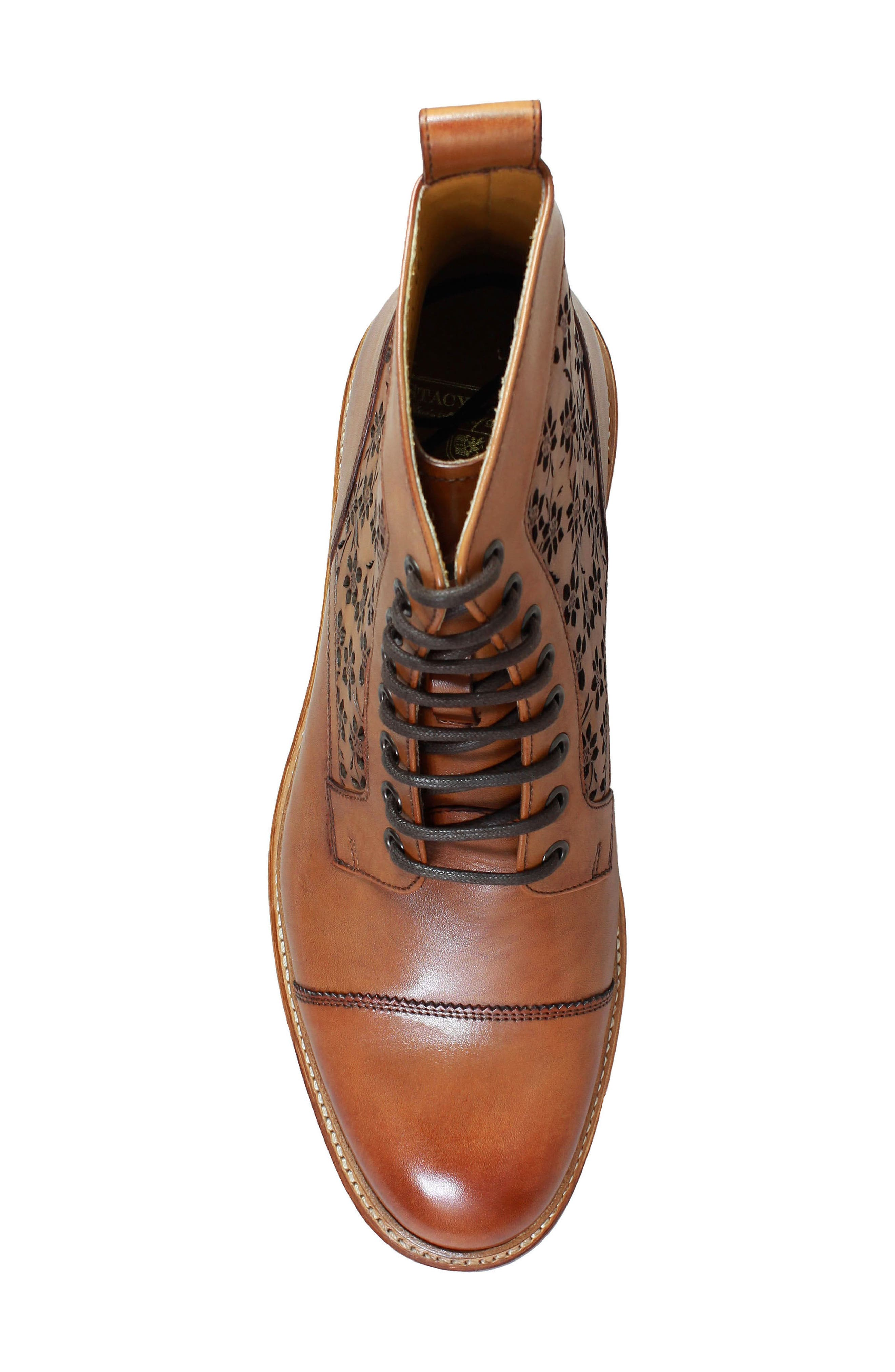 M2 Laser Cut Boot,                             Alternate thumbnail 5, color,                             Cognac Leather