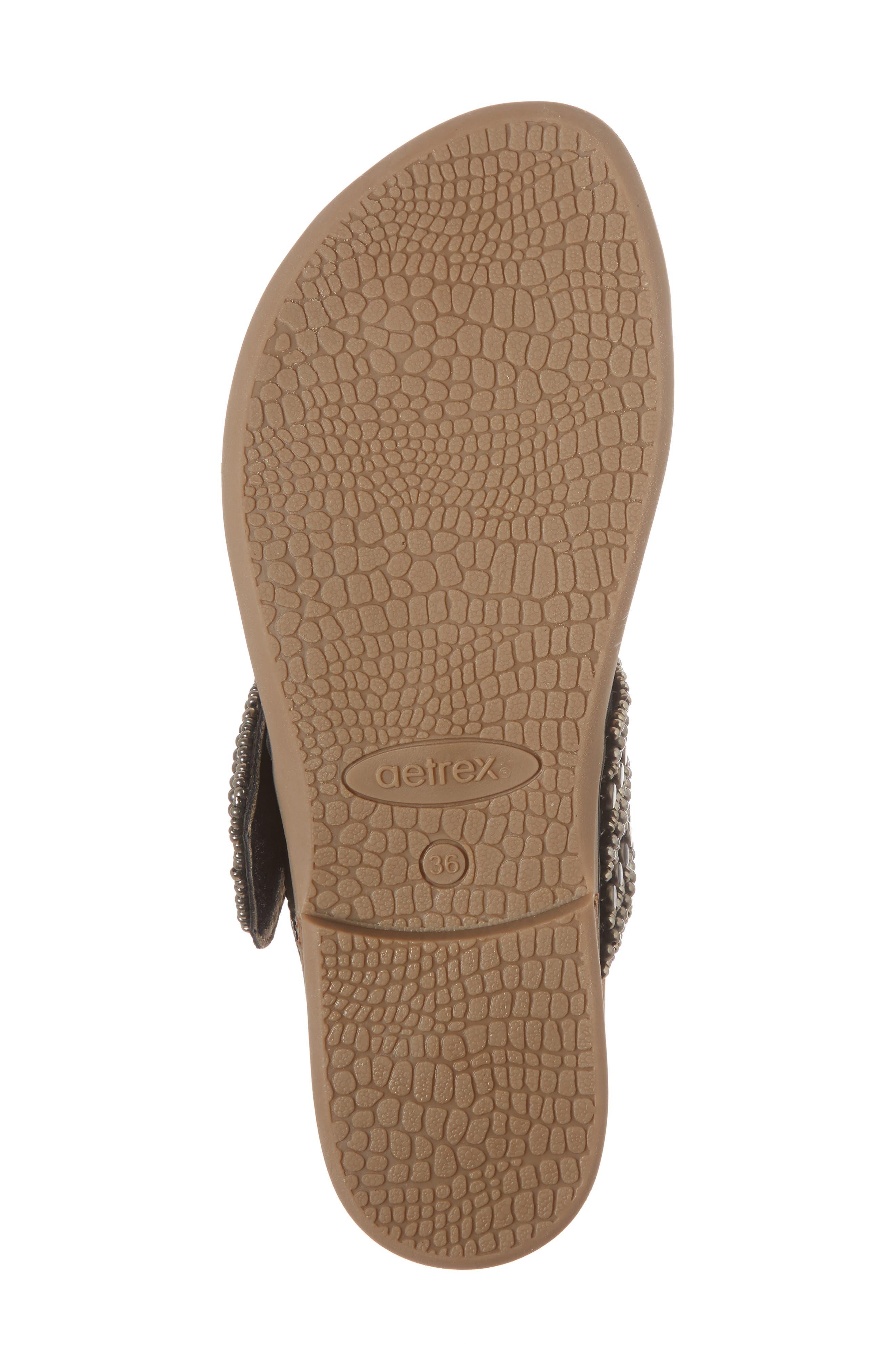 Layla Embellished Slide Sandal,                             Alternate thumbnail 5, color,                             Black Leather