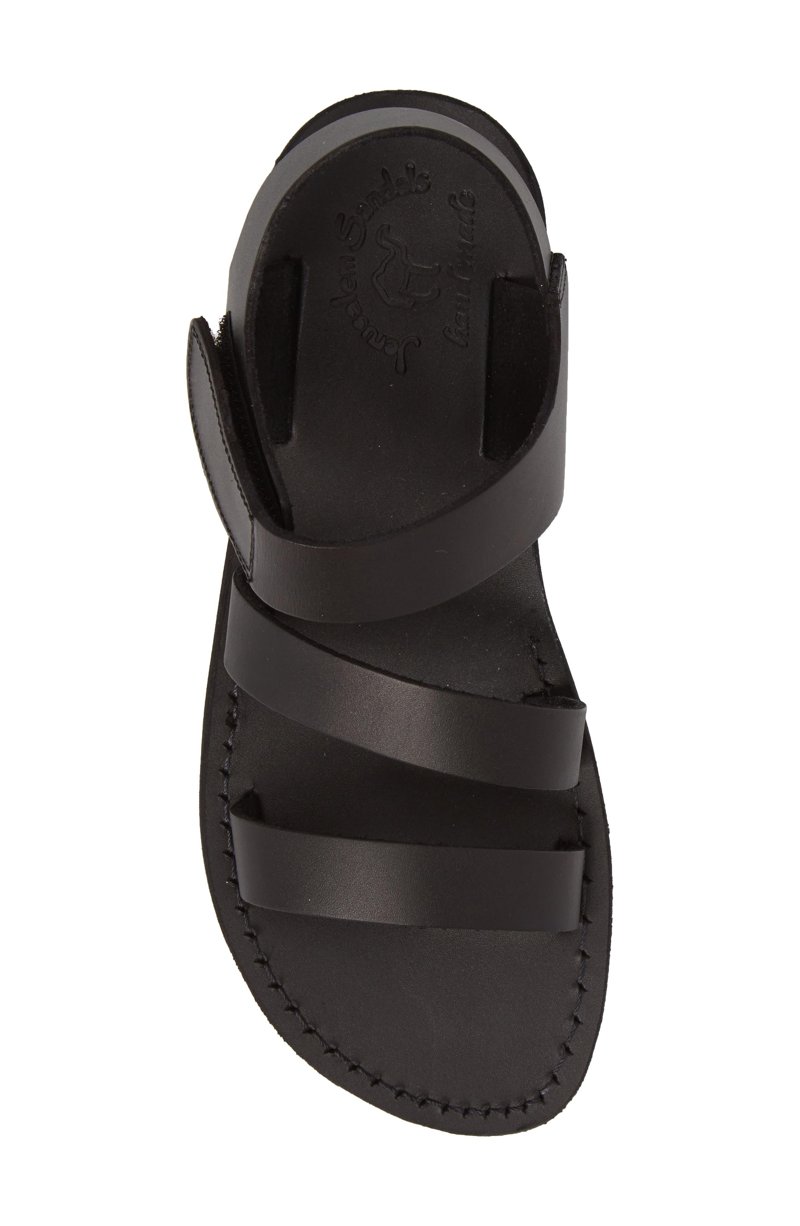 Jared Sandal,                             Alternate thumbnail 5, color,                             Black Leather