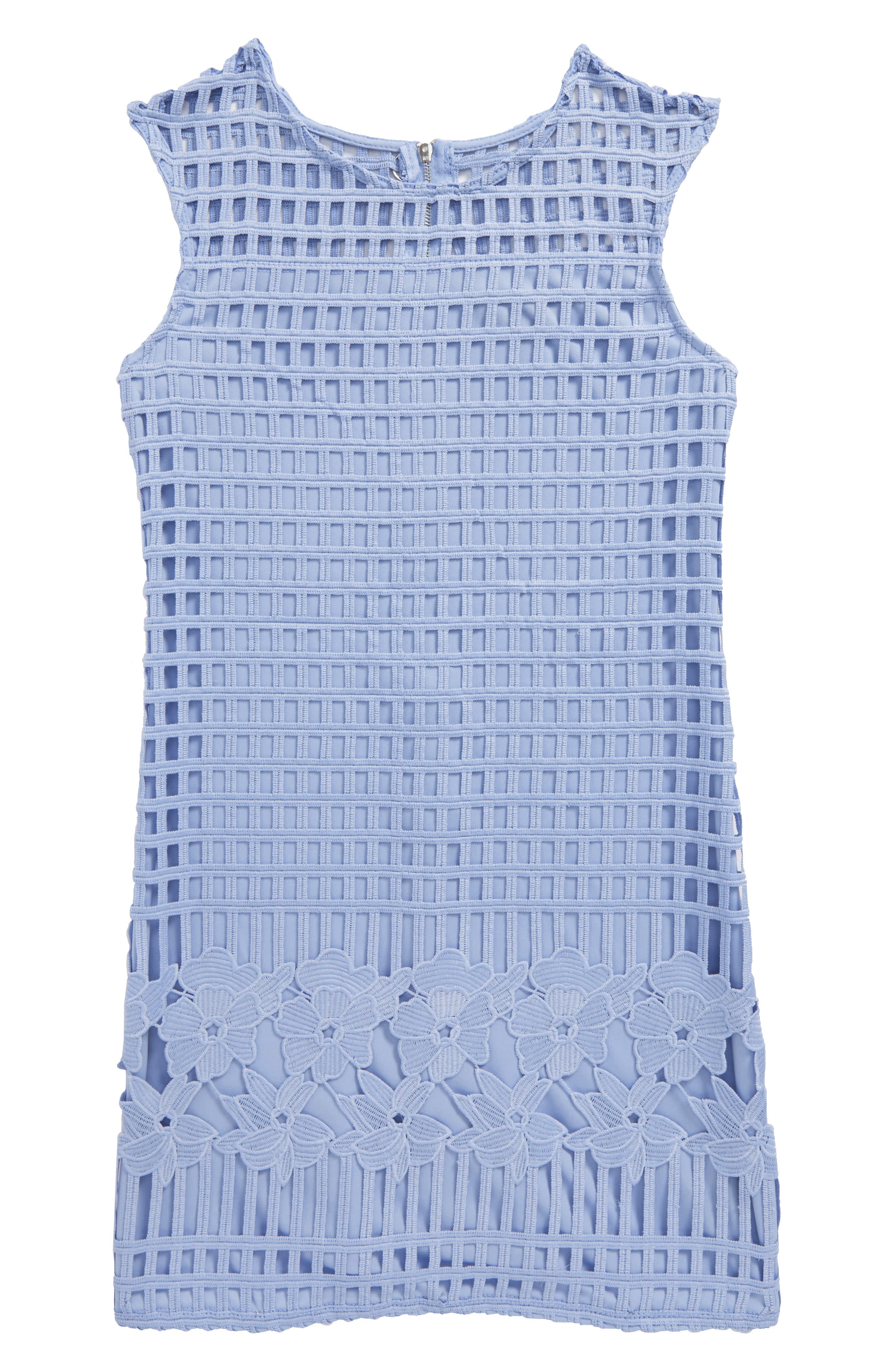 Sleeveless Shift Dress,                         Main,                         color, Cornflower