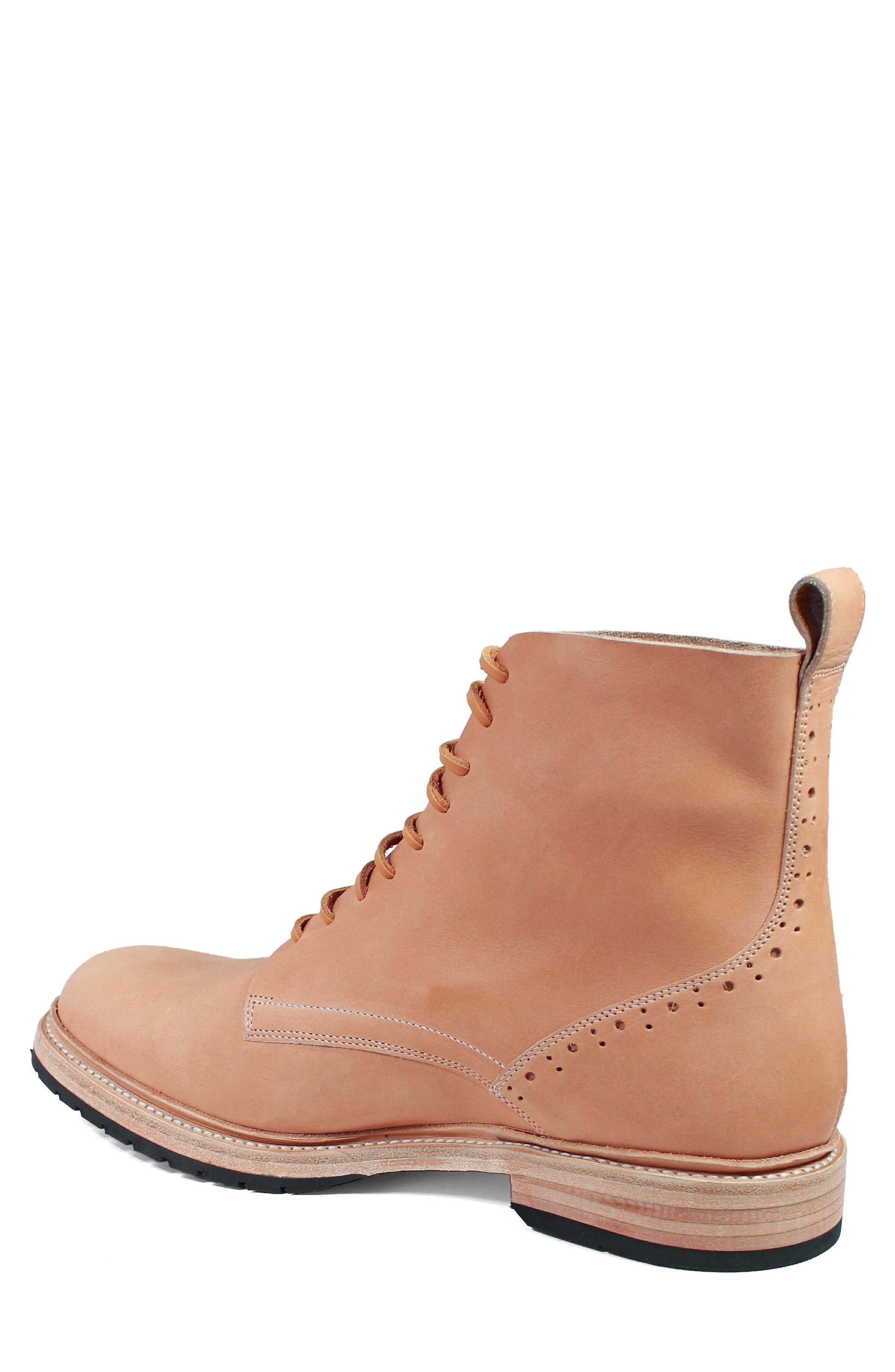M2 Plain Toe Boot,                             Alternate thumbnail 2, color,                             Natural Leather