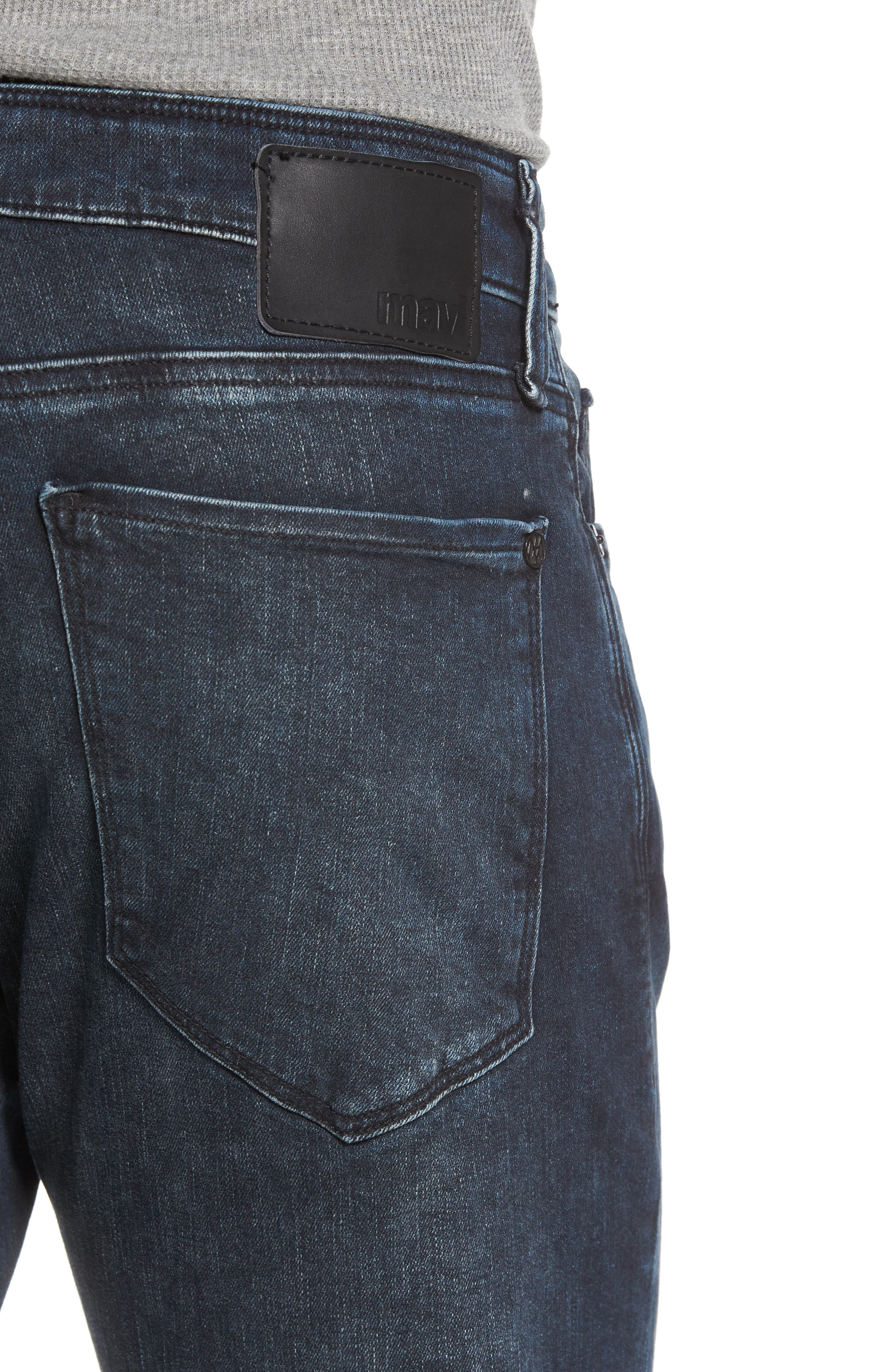 Jake Slim Fit Jeans,                             Alternate thumbnail 4, color,                             Ink Used Authentic Vintage