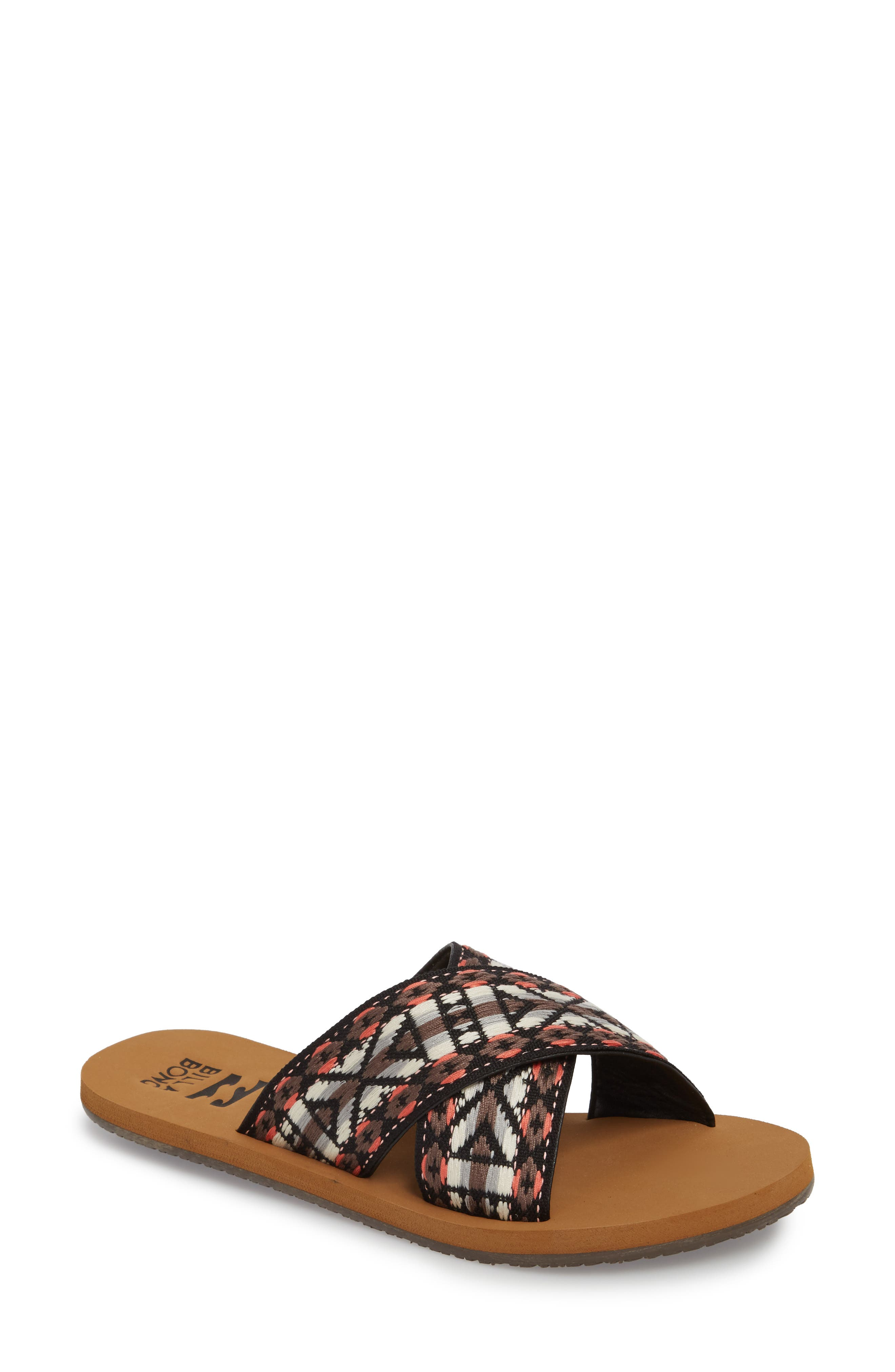 Surf Bandit Slide Sandal,                             Main thumbnail 1, color,                             Vintage Coral