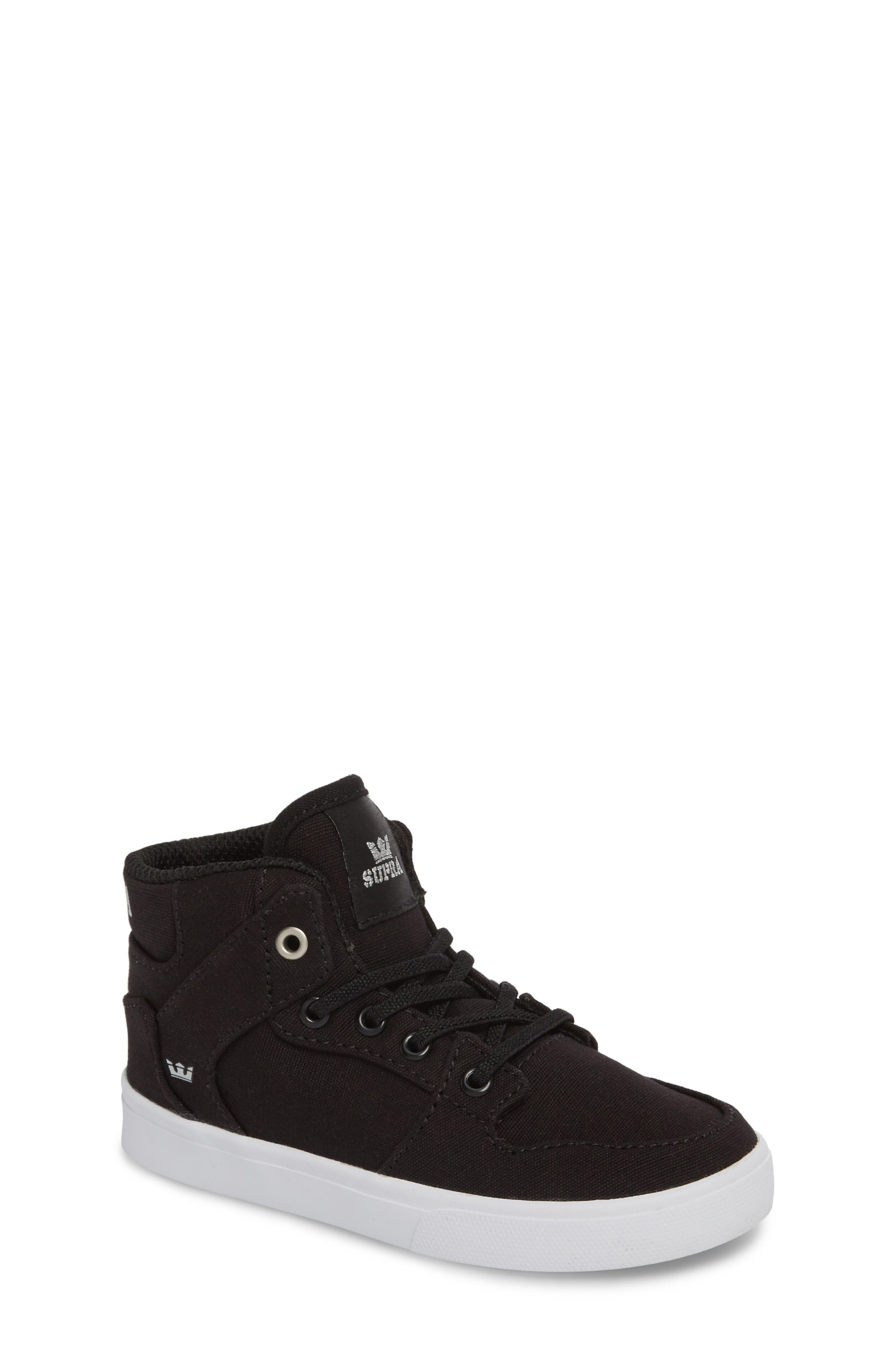 'Vaider' High Top Sneaker,                         Main,                         color, Black/ White