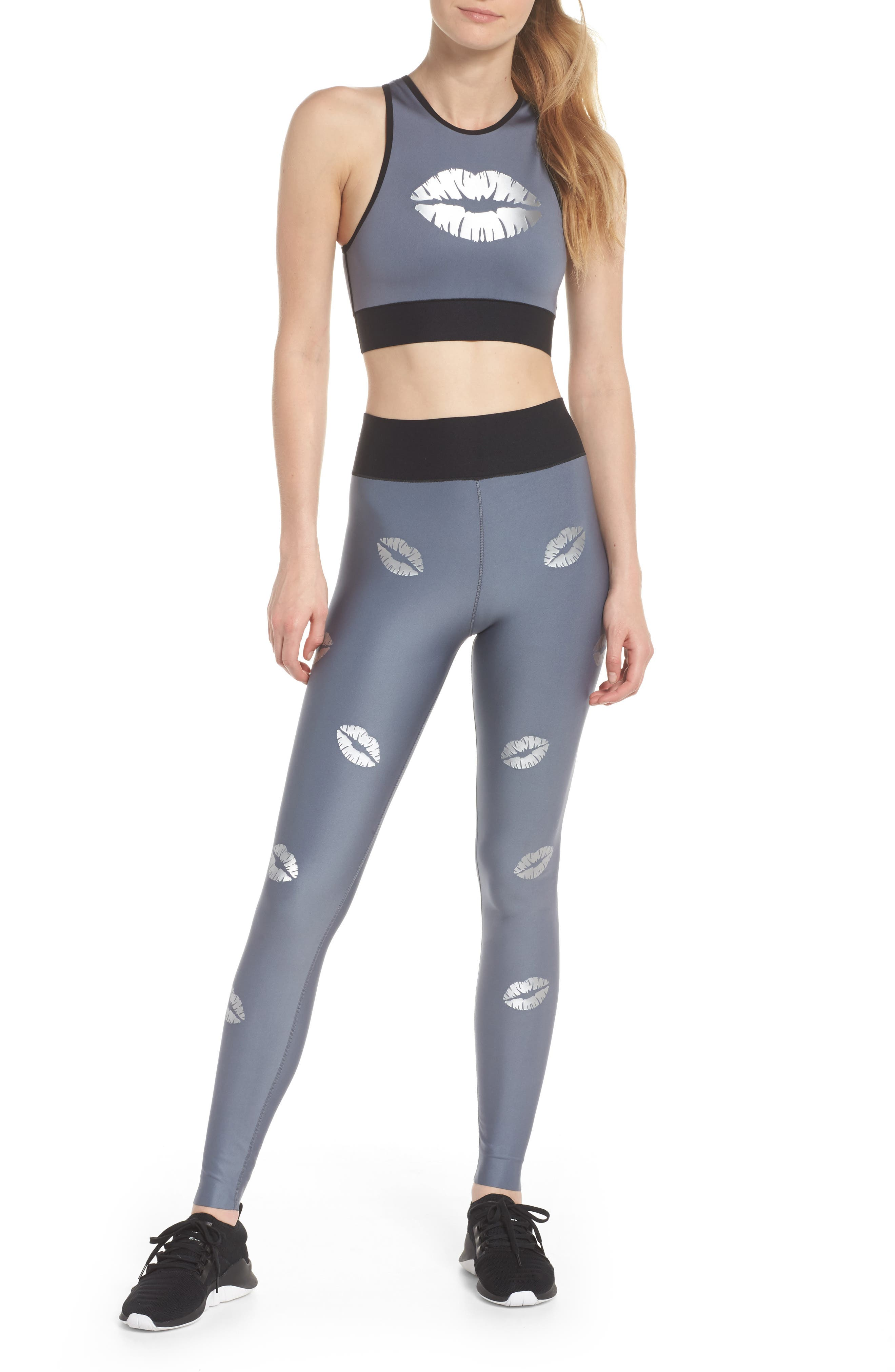 Altitude Lux Make Out Crop Top,                             Alternate thumbnail 6, color,                             Silver Brushed Steel