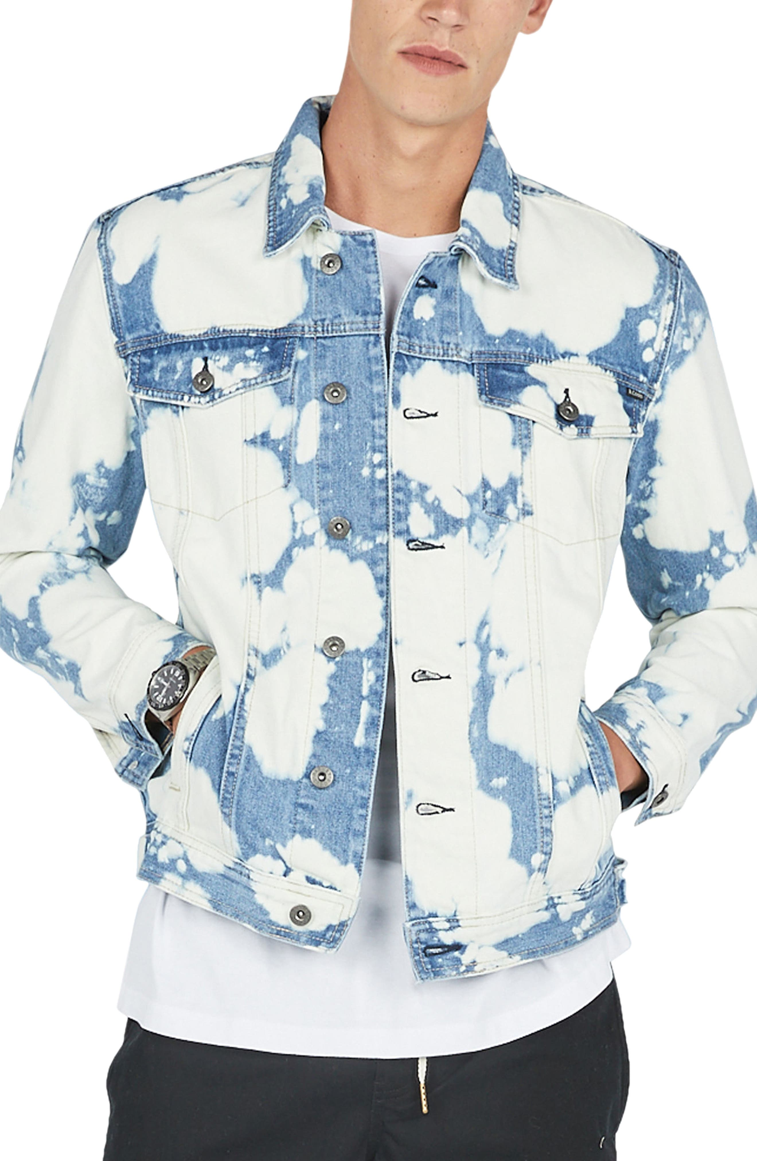 B. Rigid Denim Jacket,                             Main thumbnail 1, color,                             Bleached Blue