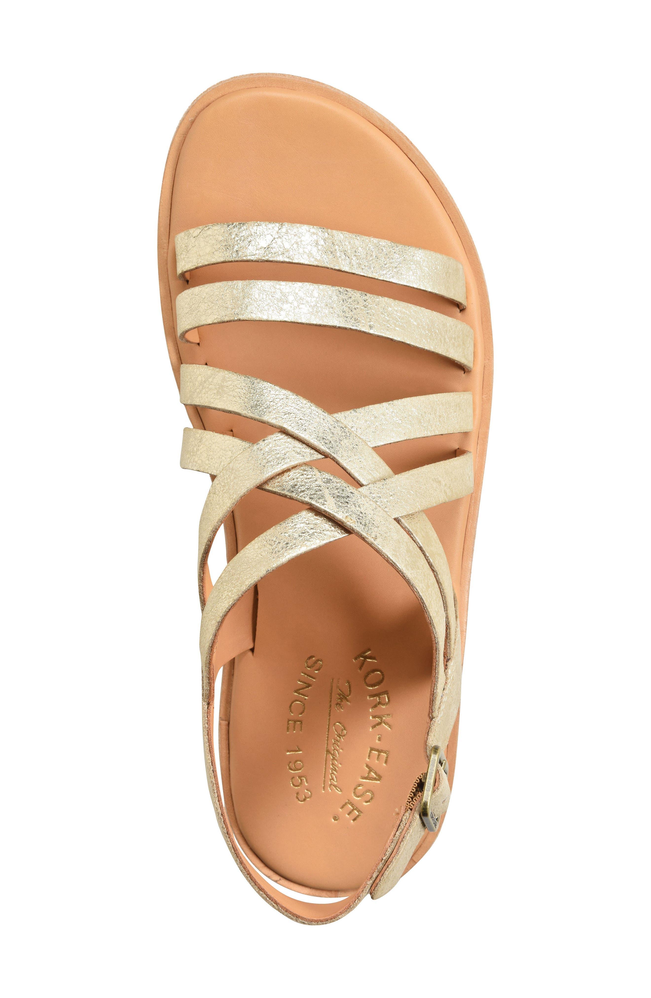 Nicobar Sandal,                             Alternate thumbnail 5, color,                             Gold Metallic Leather
